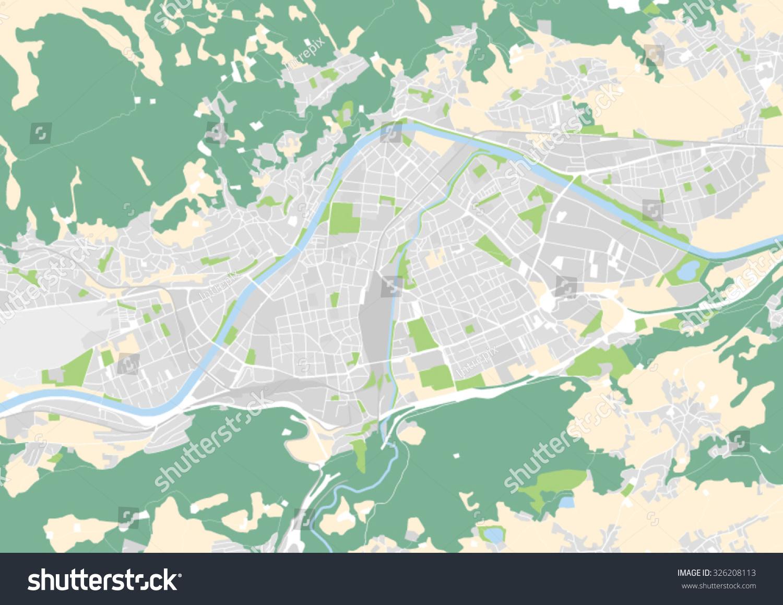 Vector City Map Innsbruck Austria Stock Vector 326208113 Shutterstock