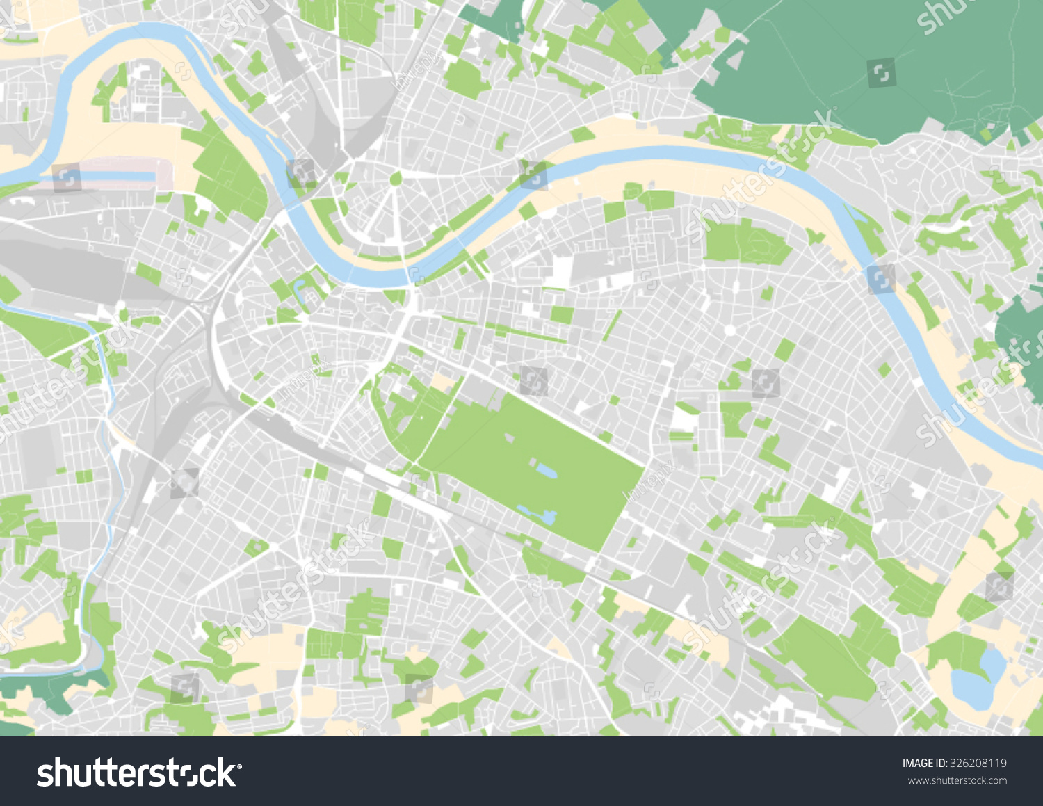 Vector City Map Dresden Germany Stock Vector Royalty Free