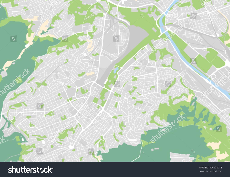 Vector City Map Stuttgart Germany Stock Vector - Germany map stuttgart