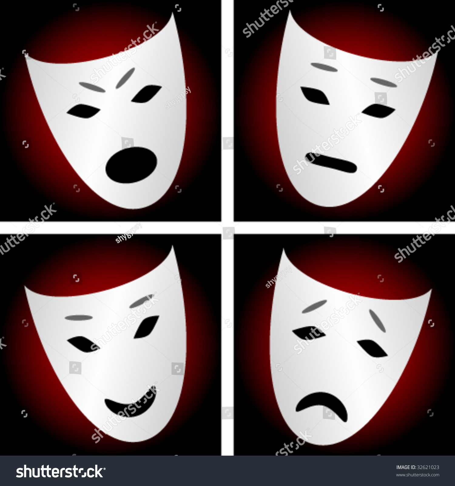 Stock Vector Masks Depicting