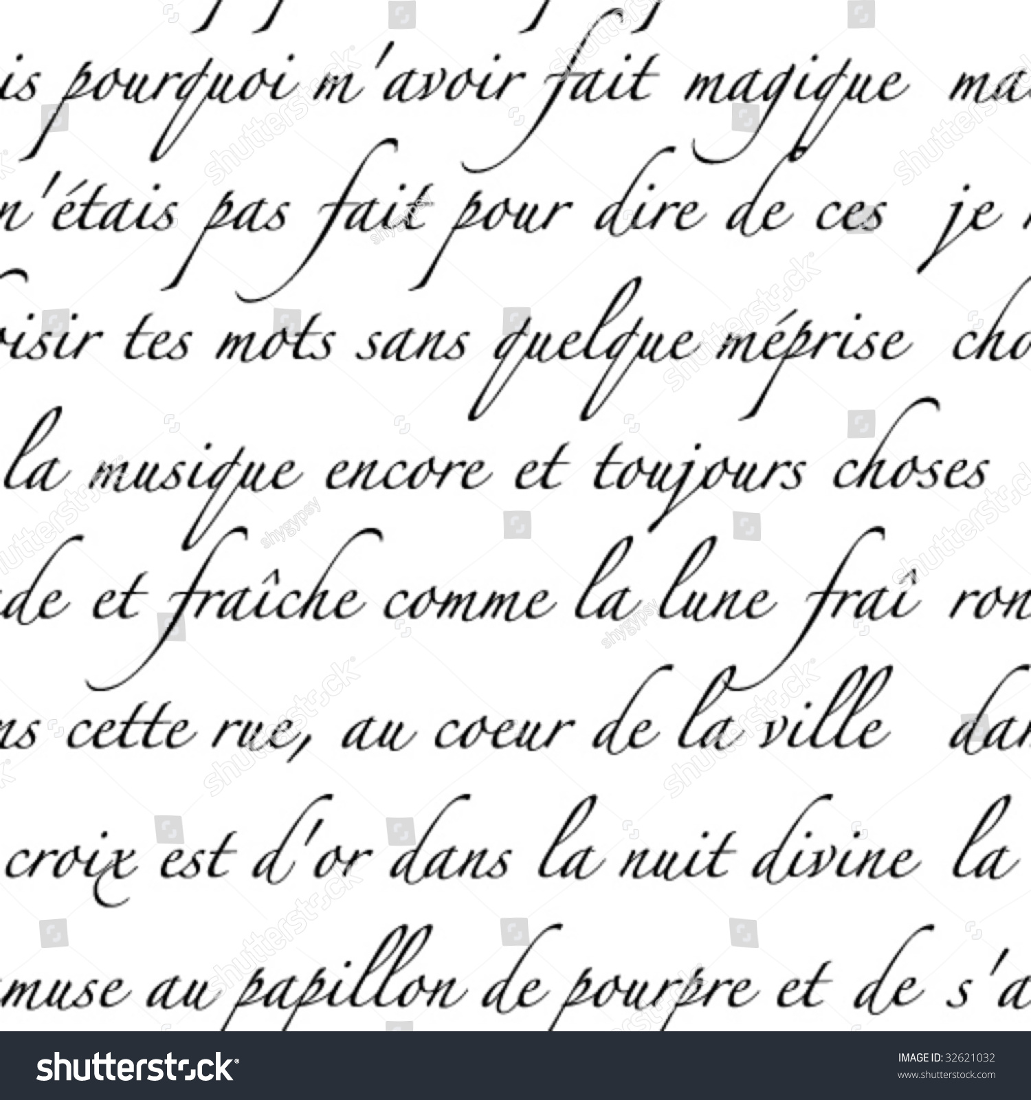 french script writing