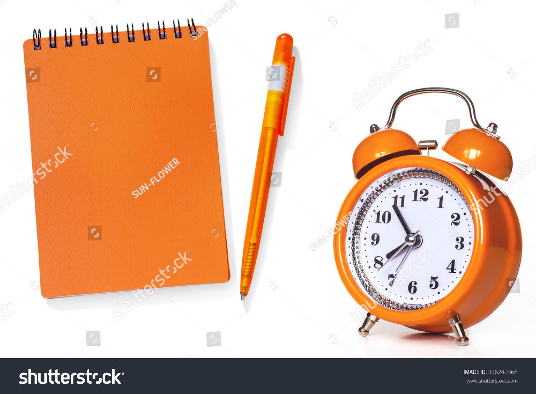 Calendar Clock Wallpaper : Royalty free notebook calendar diary pen and alarmu2026 #326240366