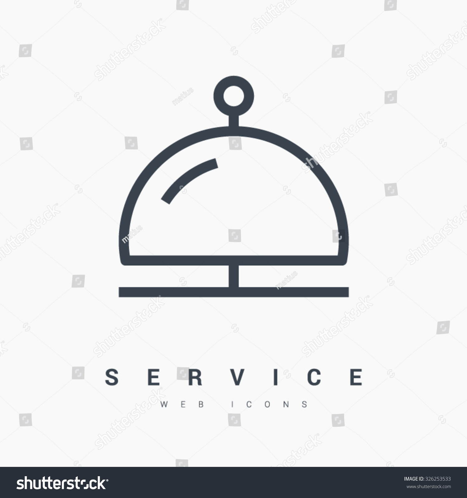 reception bell icon hotel service sign stock vector 326253533
