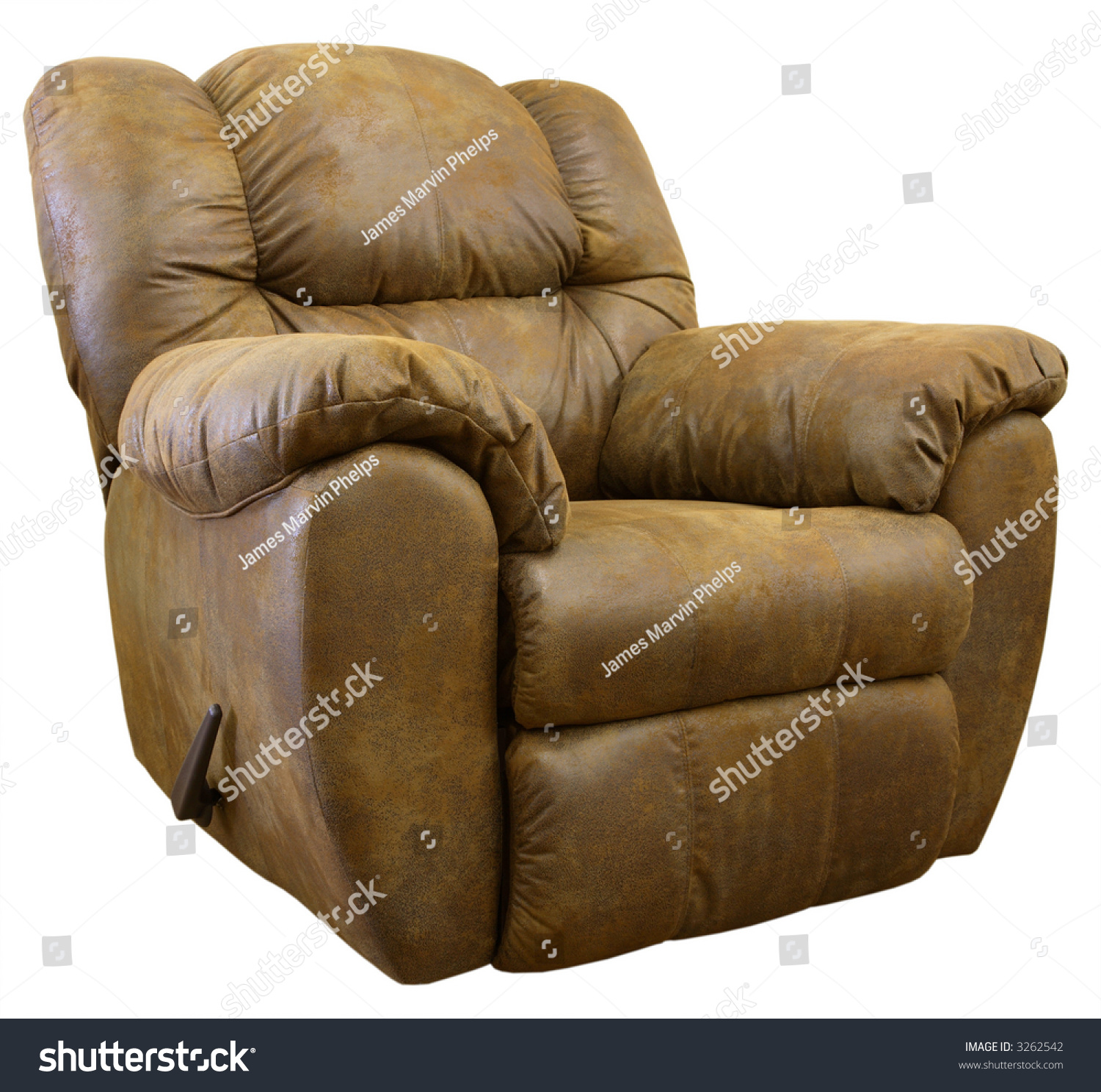 Brown Micro Suede Rocker Recliner Chair  sc 1 st  Shutterstock : brown suede recliner - islam-shia.org