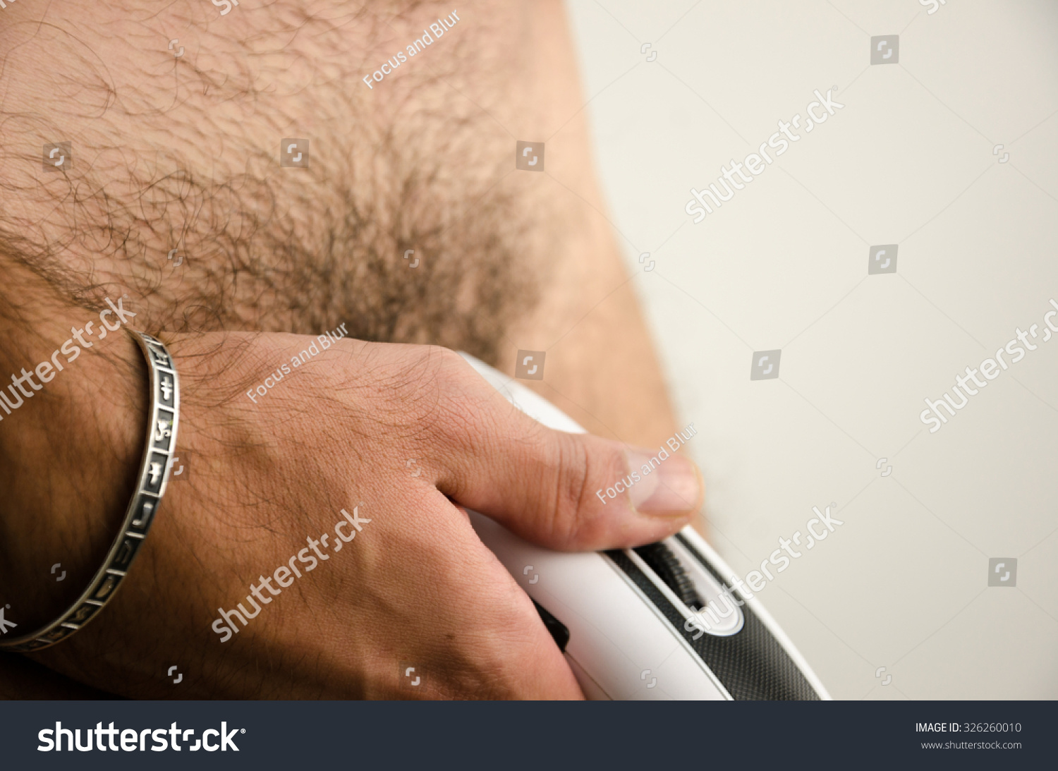 Excellent Man Haircut Pubic Hair Clipper Stock Photo 326260010 Shutterstock Short Hairstyles For Black Women Fulllsitofus