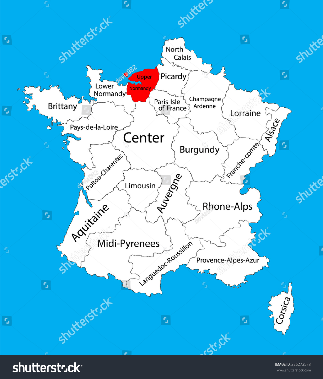 Vector map state upper normandy location vector de stock326273573 vector map of state upper normandy location on france france vector map gumiabroncs Gallery