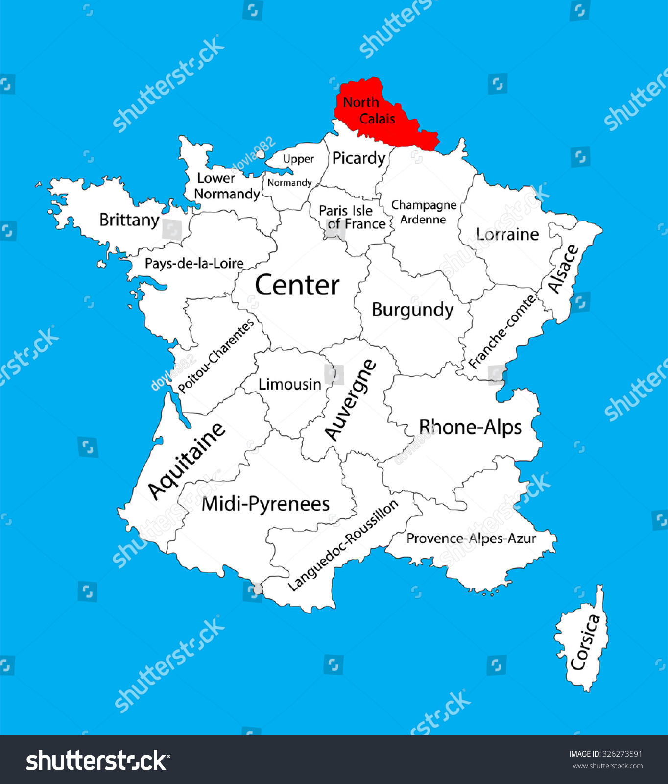 Vector map nordpasdecalais france region france stock - Tables decennales pas de calais ...