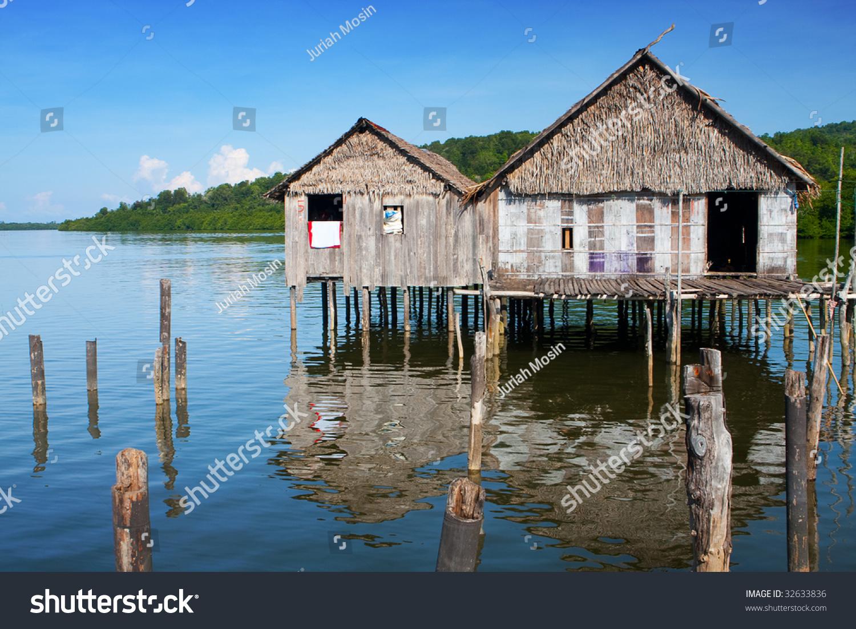 Traditional Sea Bajau Home Made Out Stock Photo 32633836