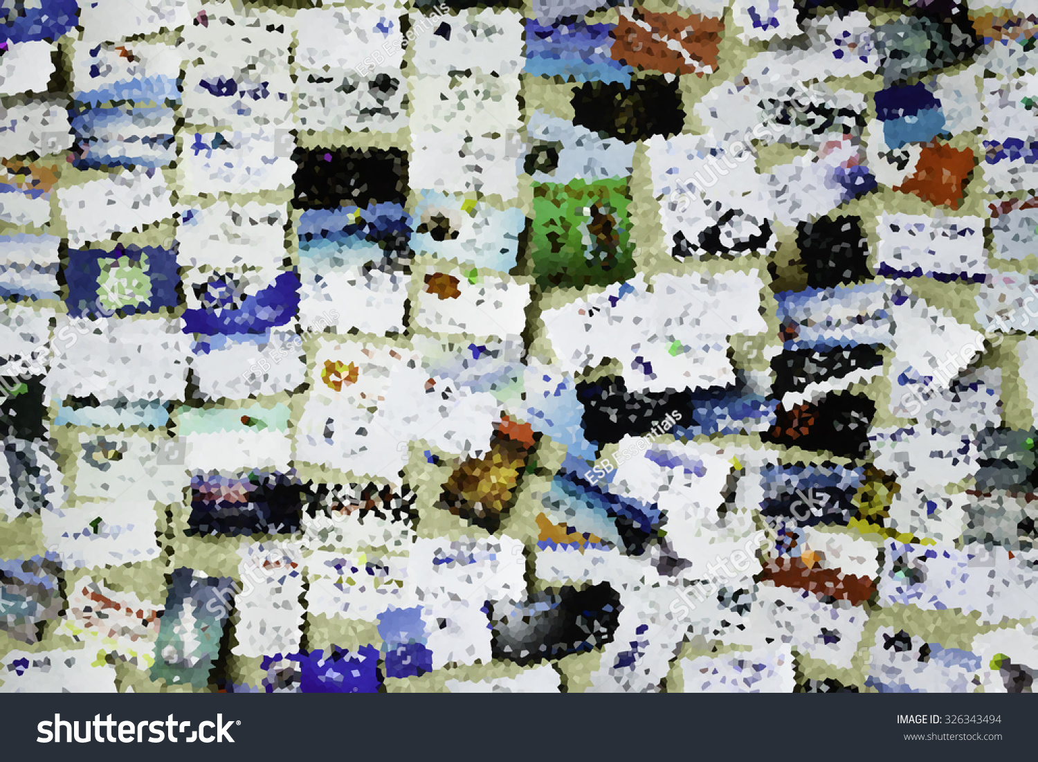 Bright Crystallized Abstract Many Business Cards Stock Illustration ...