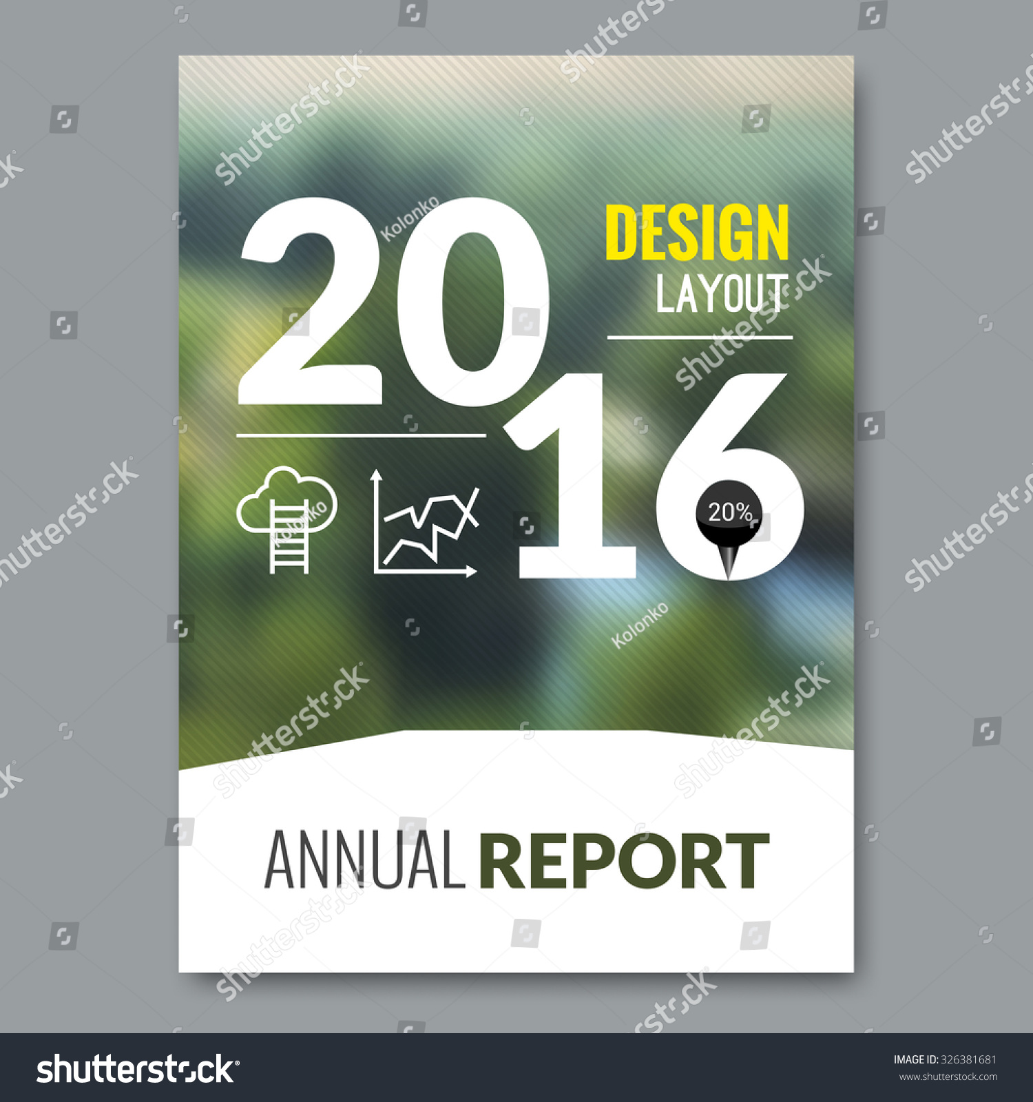 cover magazine design template beautiful annual stock vector cover magazine design template beautiful annual report business design nature background vector illustration