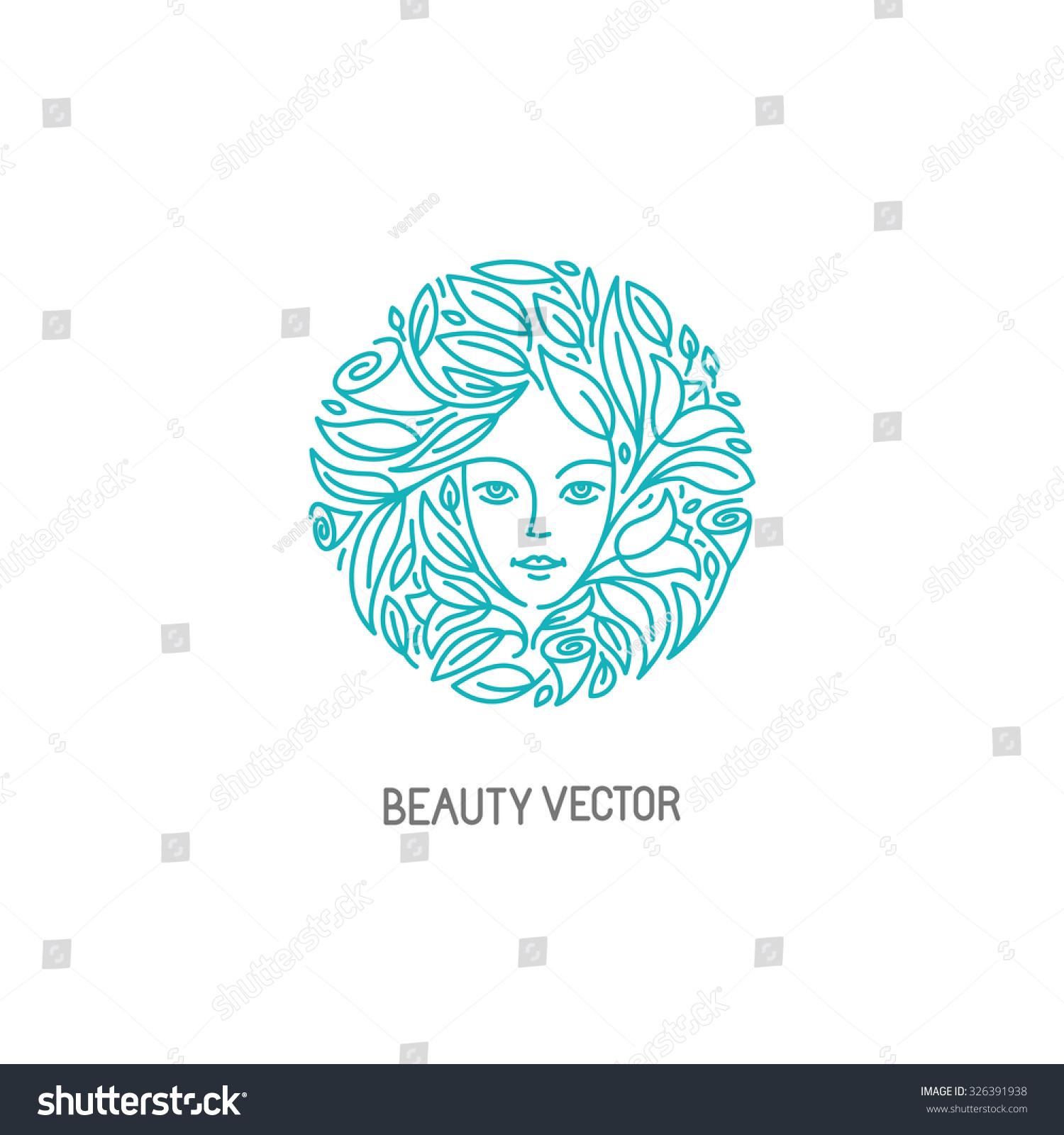 Vector Logo Design Template Trendy Linear Stock Vector ...