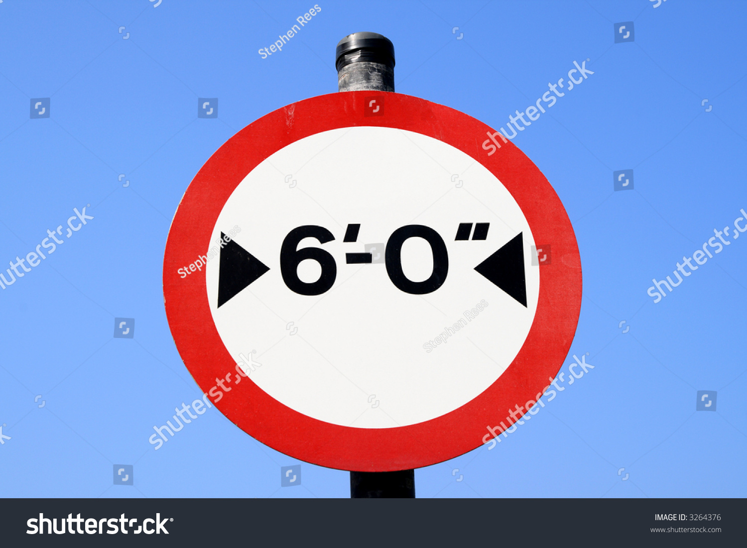 Six Feet Width Limit British Road Stock Photo Edit Now Shutterstock