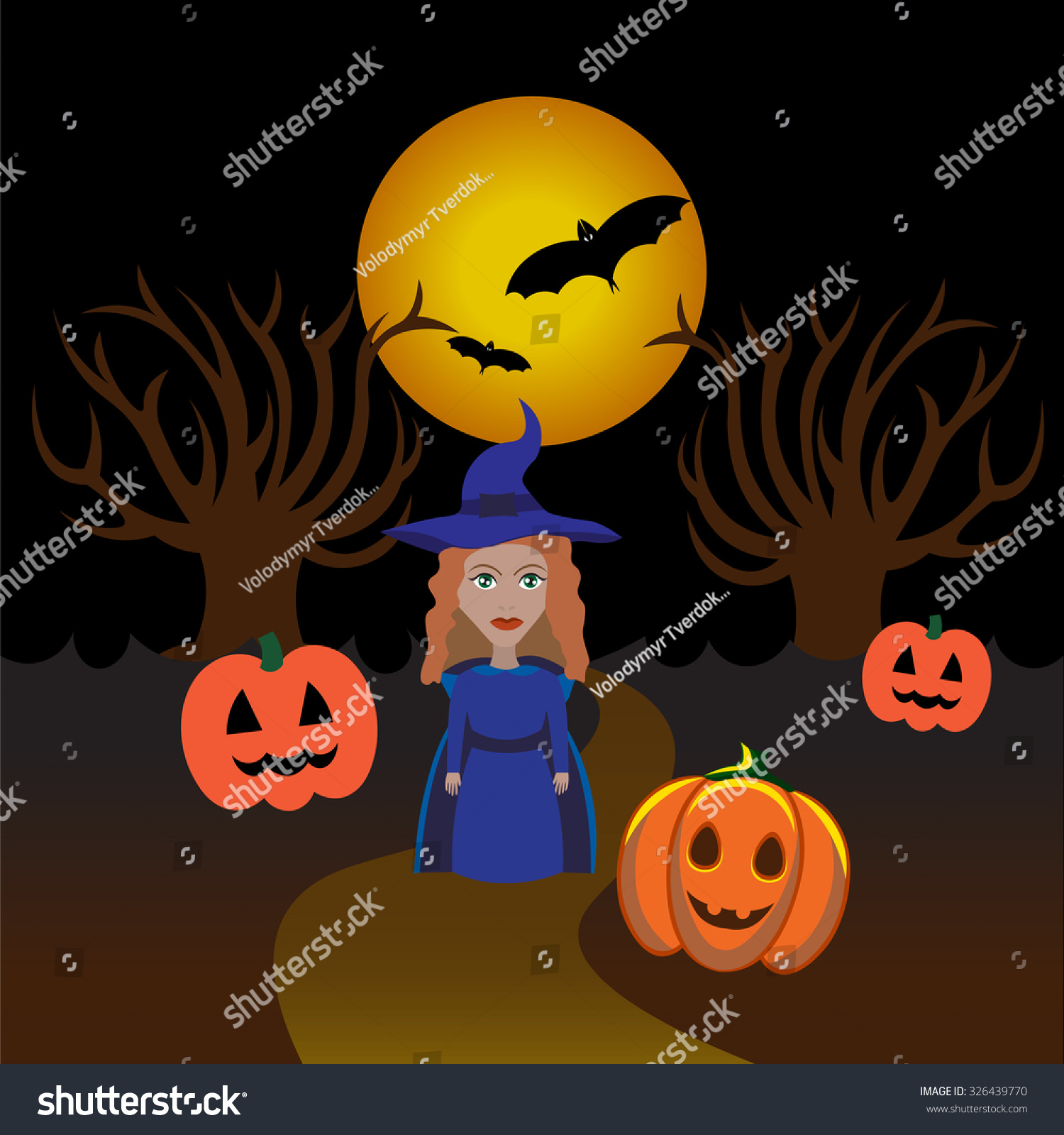 Download Wallpaper Halloween Magic - stock-vector-beautiful-art-creative-colorful-halloween-holiday-wallpaper-vector-illustration-of-one-magic-woman-326439770  Image_154277.jpg