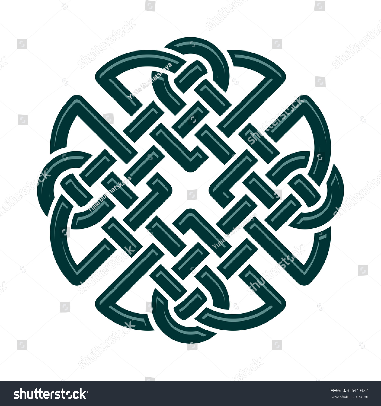 Celtic Dara Knot Symbol Strength Isolated Stock Vector ...