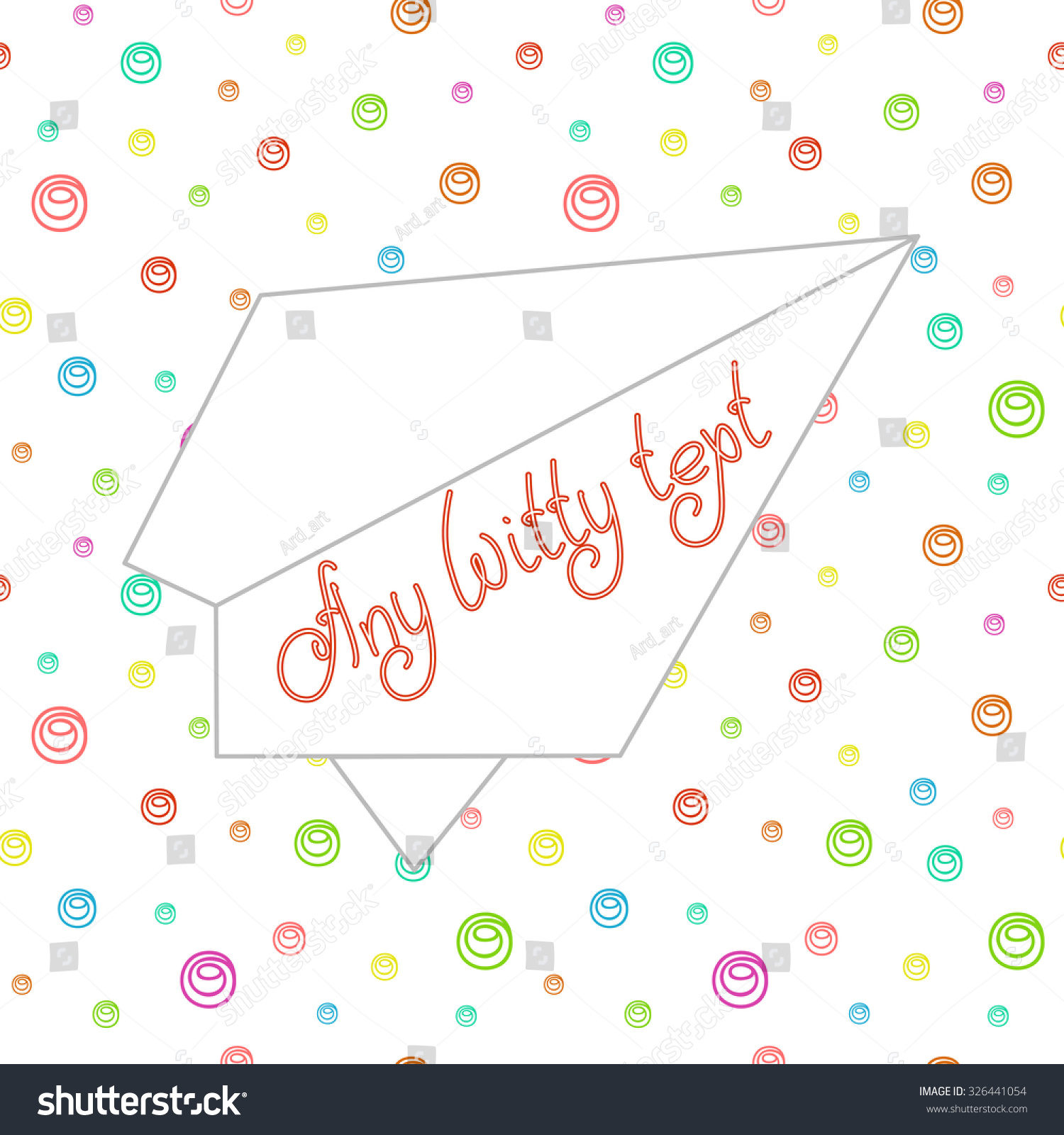 Cute Funny Greeting Card Space Invitations Stock Vector 326441054