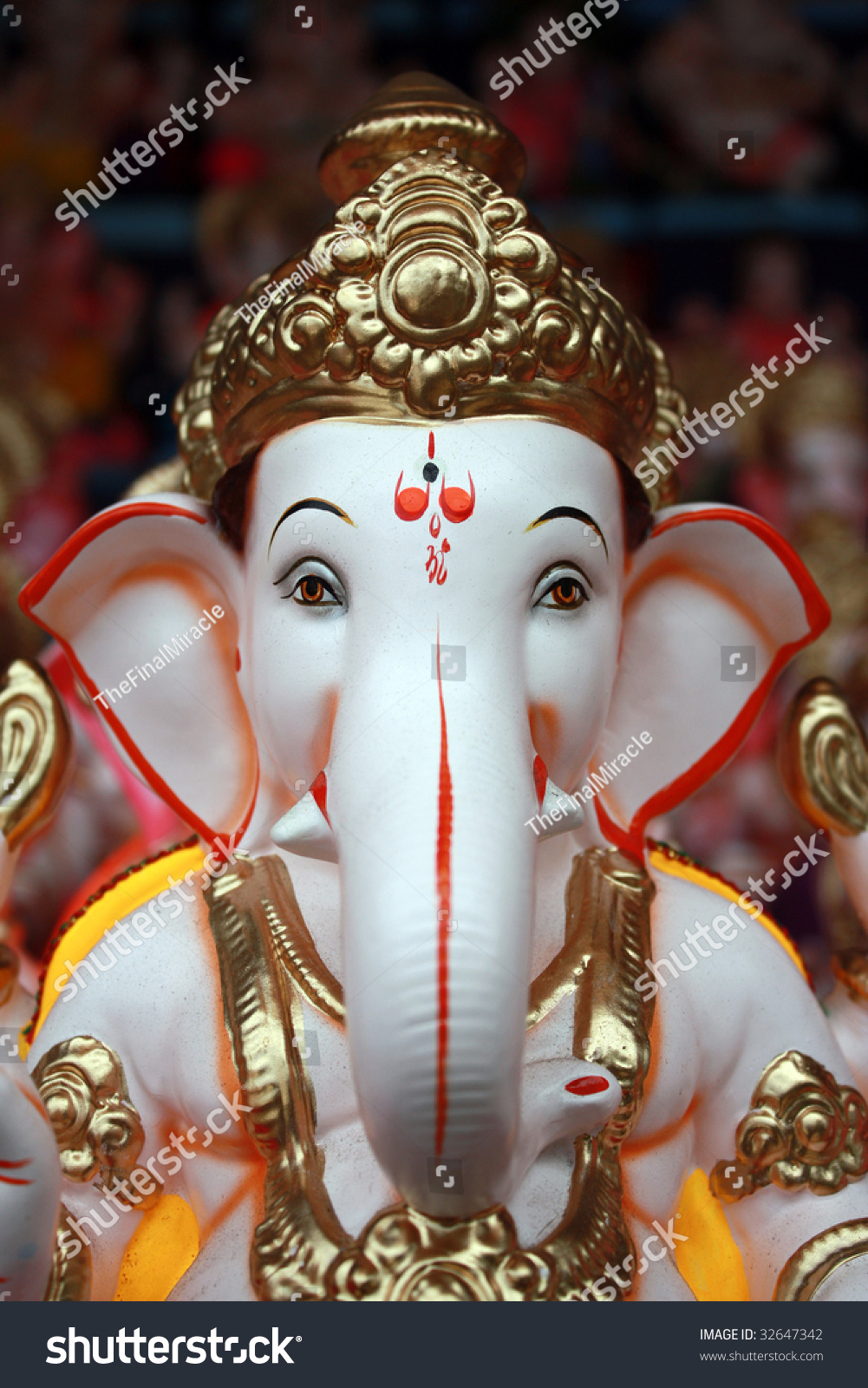 Closeup Portrait Face Lord Ganesha Idol Stock Photo Edit Now