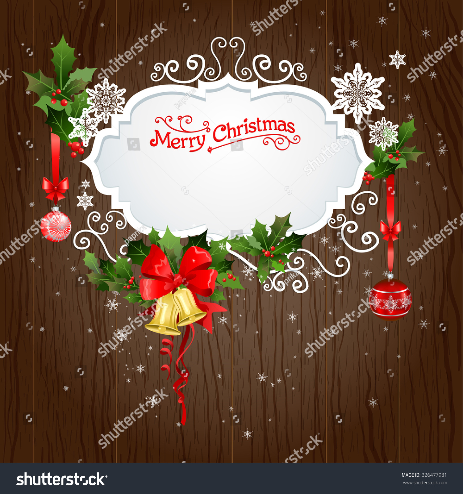 Pics photos merry christmas argyle twitter backgrounds - Holiday Background With Christmas Decoration Festive Design For Card Banner Invitation Leaflet