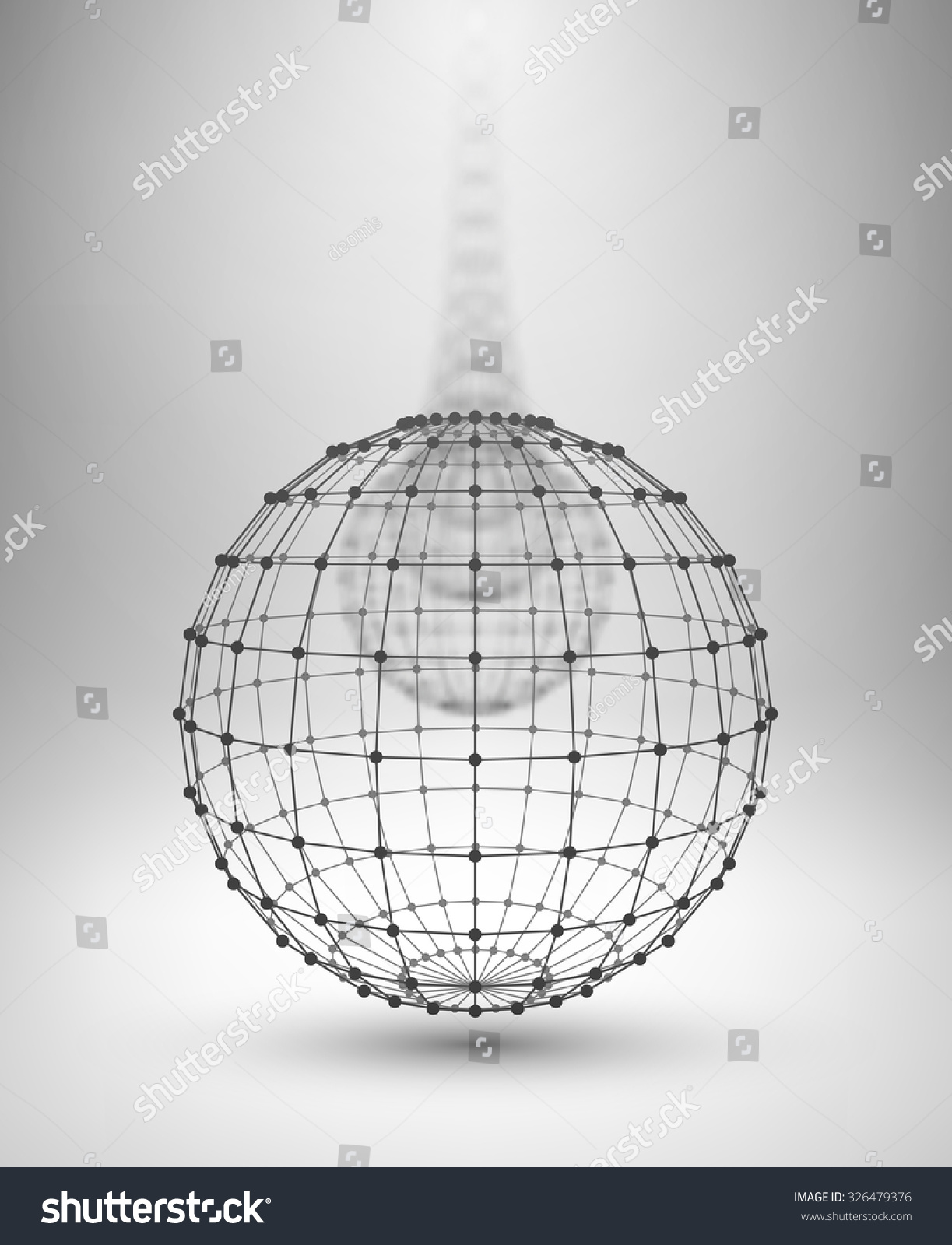 Wire Frame Globe Sphere Connected Lines Stock Vector (Royalty Free ...