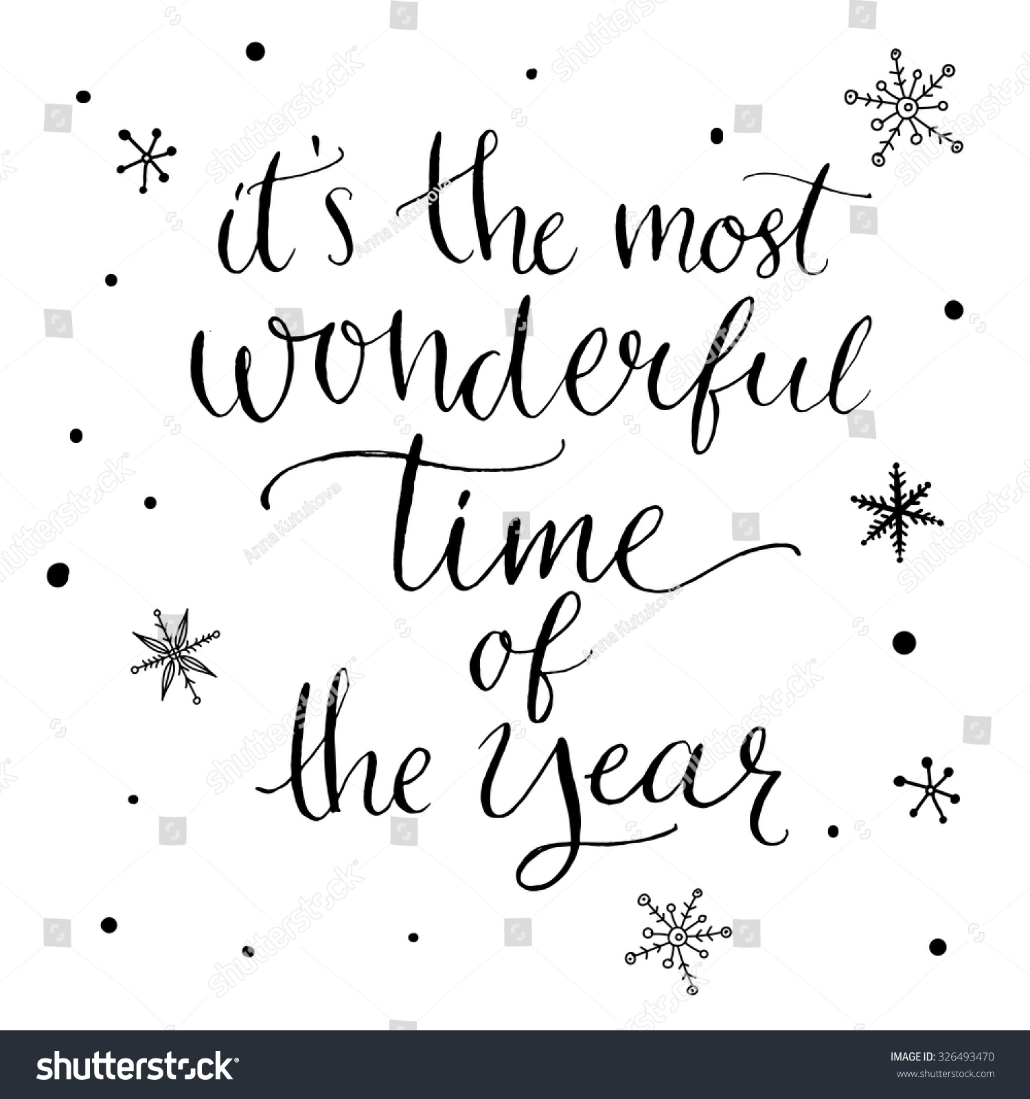 most wonderful time year inspirational quote stock image