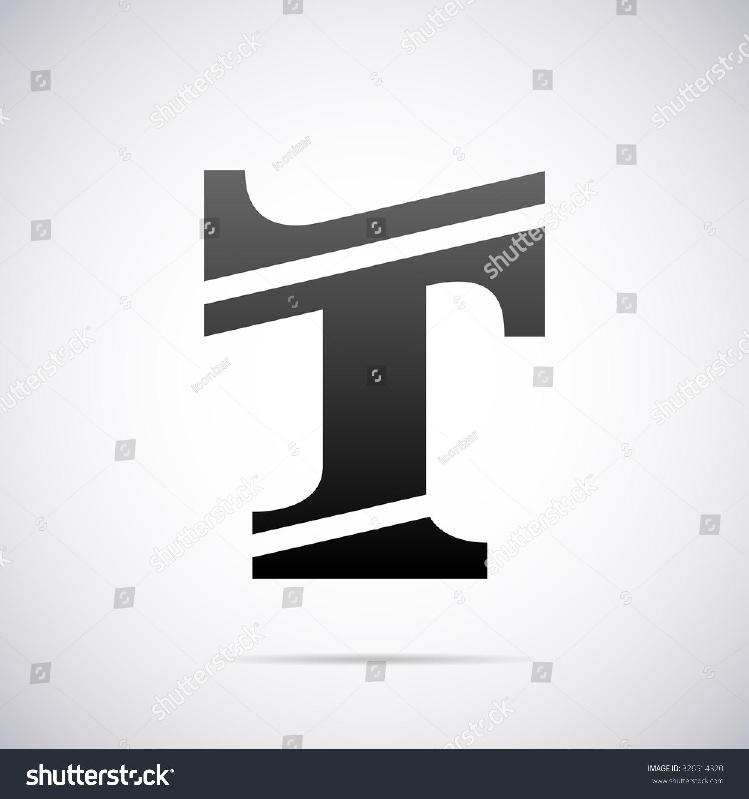 Logo letter t design template stock vector 326514320 for Letter t decoration