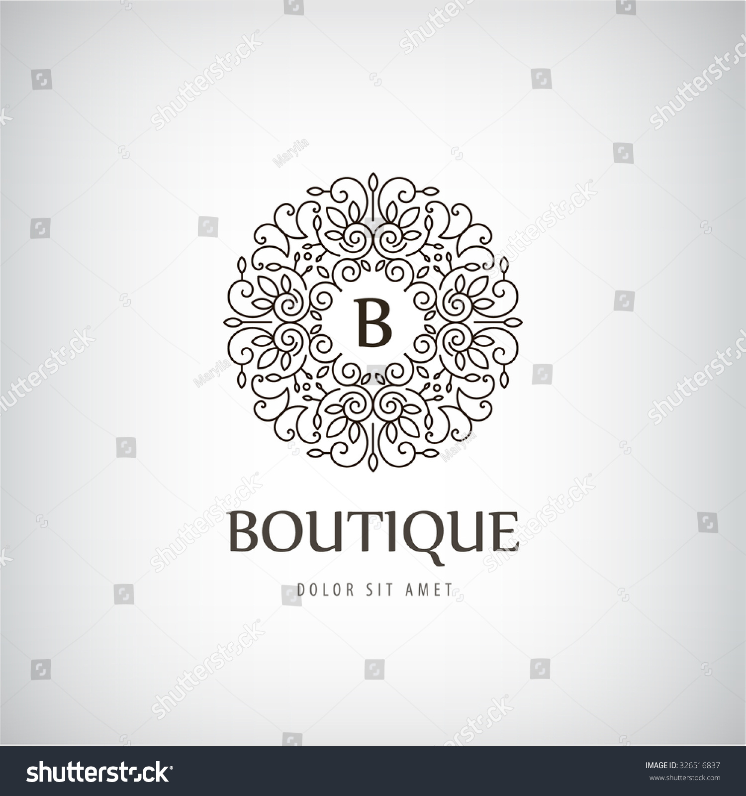 Vector luxury vintage logo icon business for Boutique hotel logo