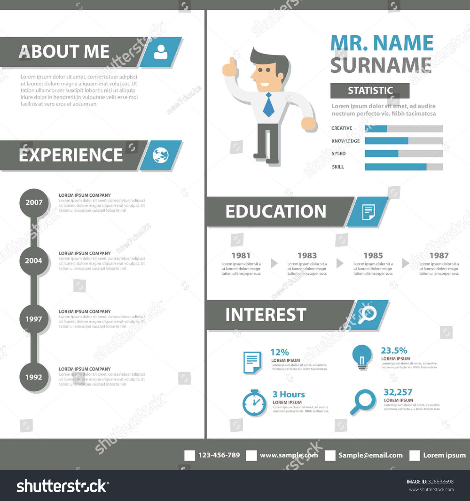 Smart creative resume business profile cv stock vector royalty free smart creative resume business profile cv vitae template layout flat design for job application advertising marketing fbccfo Image collections
