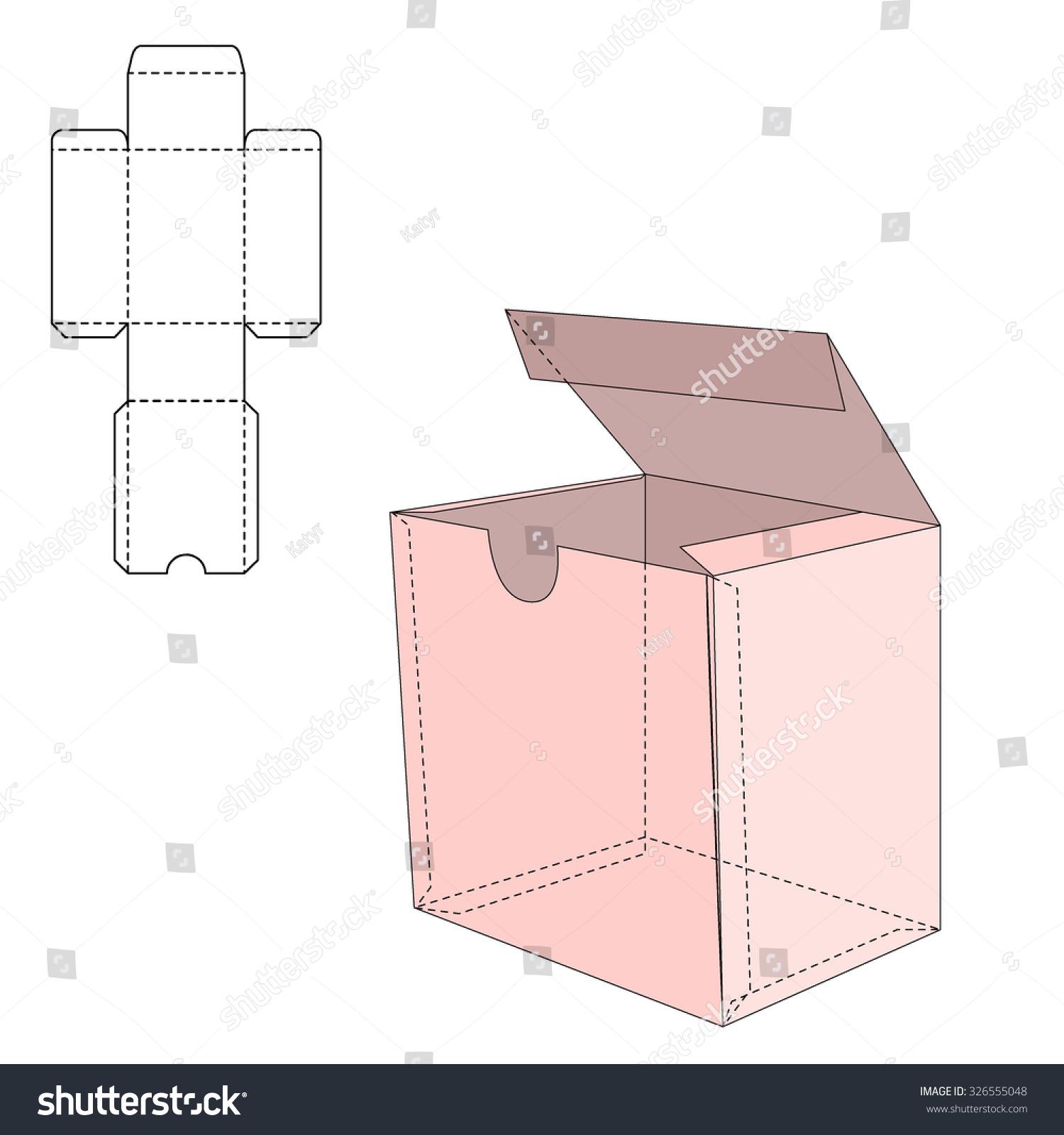 vector illustration gift craft box design stock vector 326555048 shutterstock. Black Bedroom Furniture Sets. Home Design Ideas