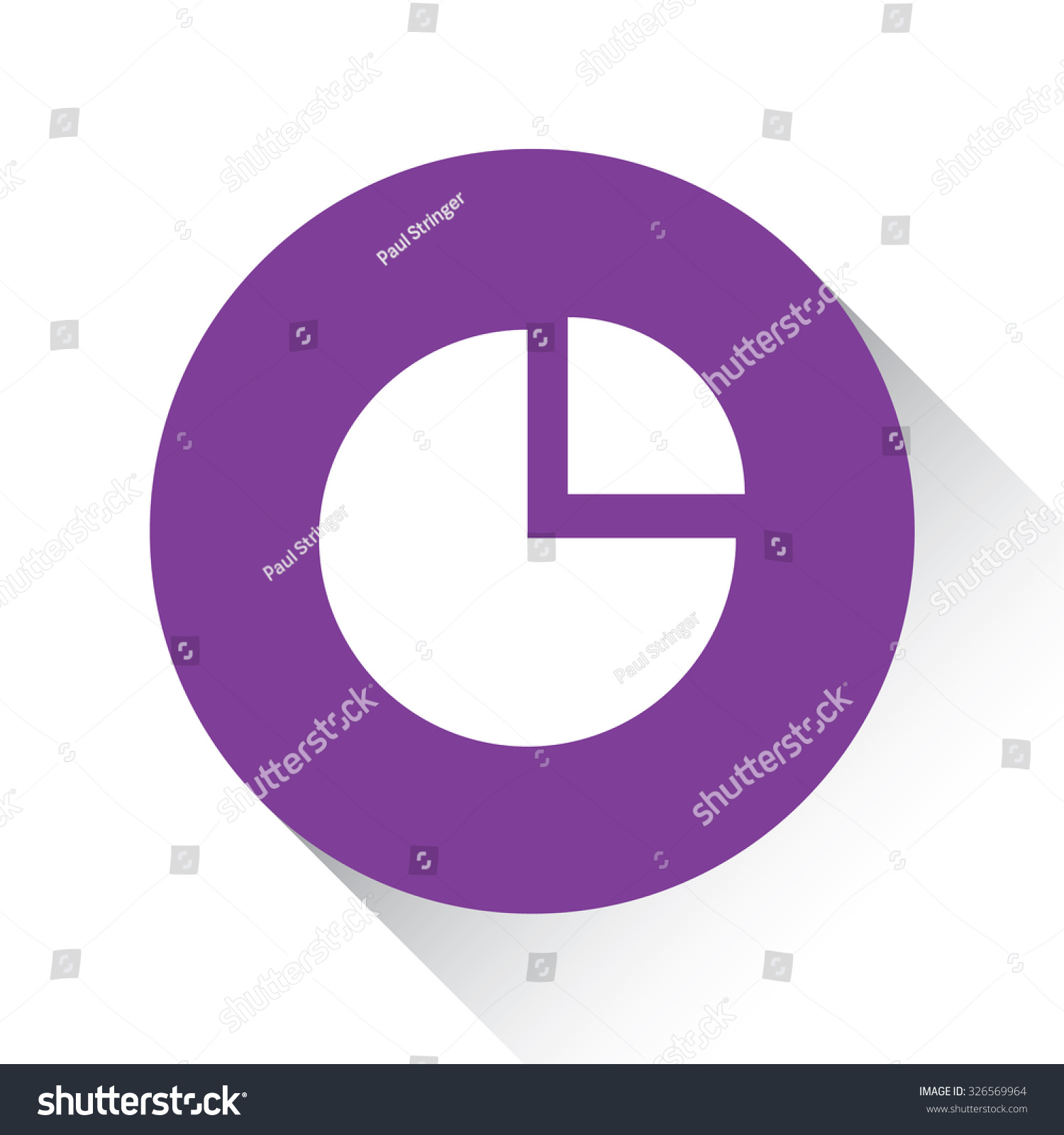 Purple icon isolated on white background stock illustration a purple icon isolated on a white background pie chart exploded nvjuhfo Image collections