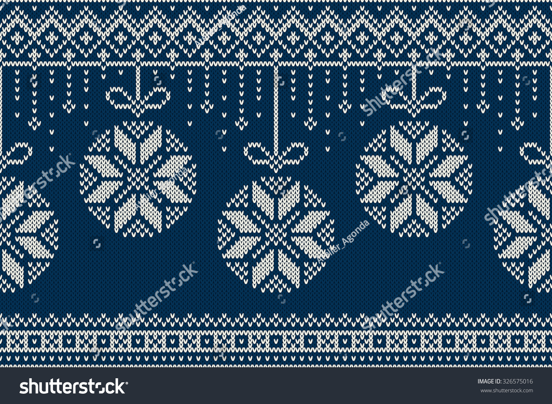 Knit Pattern Christmas Vector : Christmas New Year Knitting Pattern Winter Stock Vector 326575016 - Shutterstock