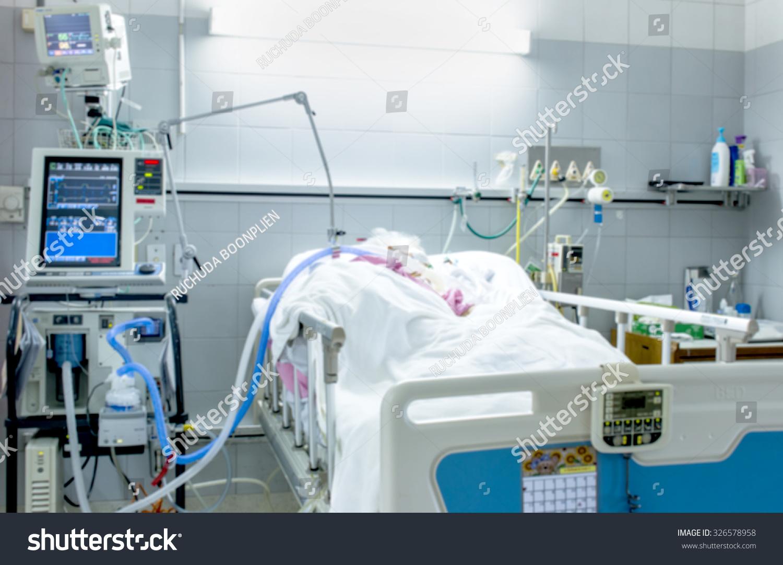 icu room hospital medical equipments patient stock photo 326578958