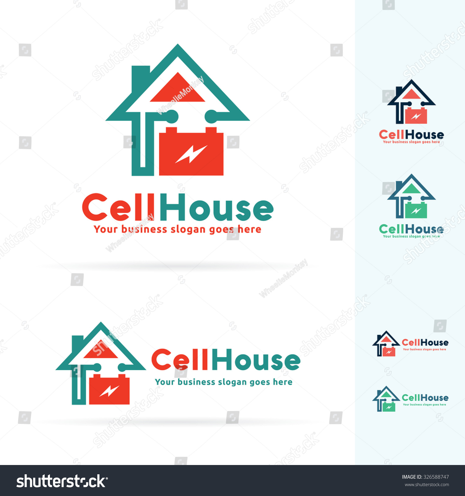 House Energy System Optional Electric System Stock Vector
