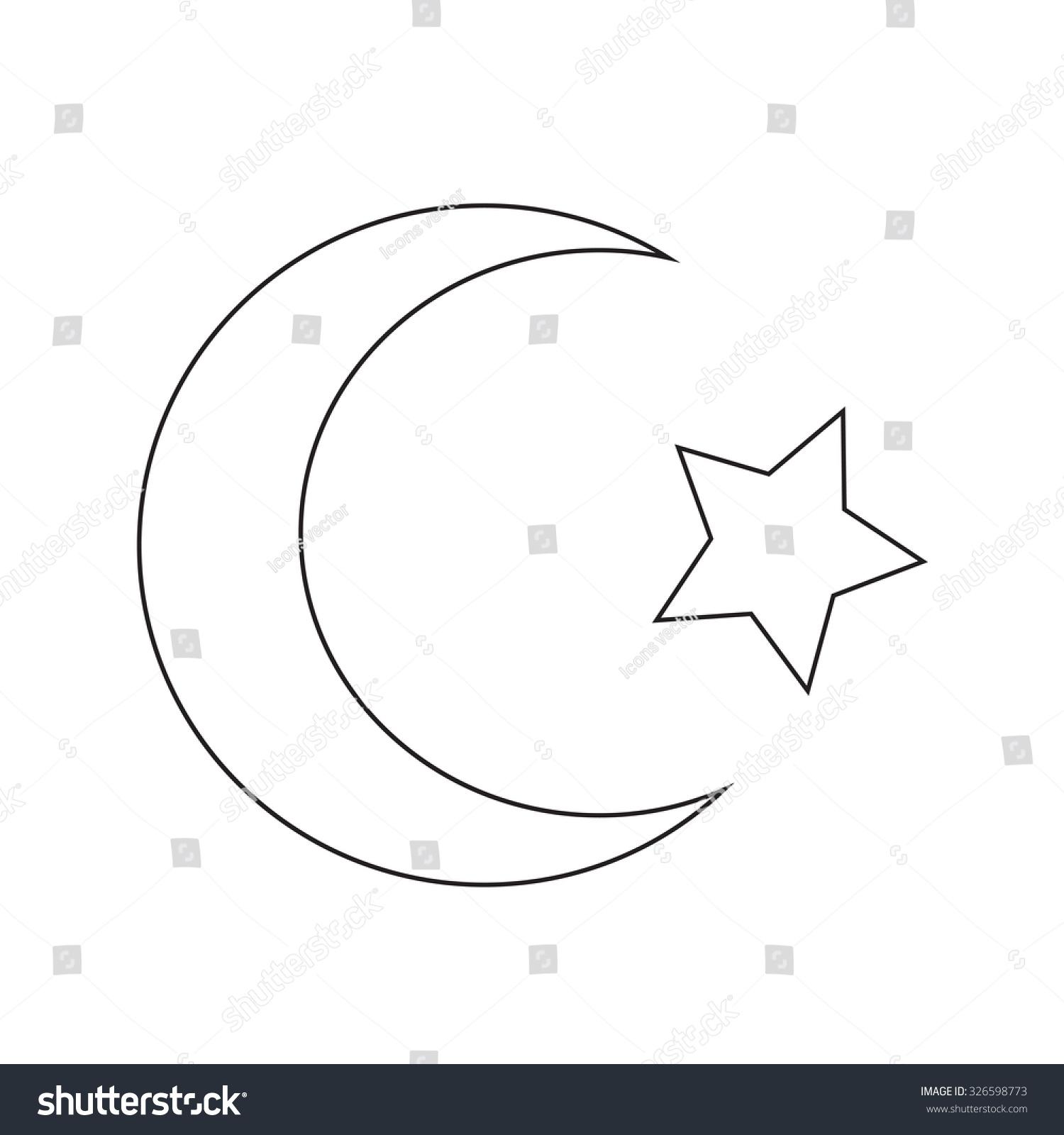 Symbol islam star crescent icon stock vector 326598773 shutterstock symbol of islam star crescent icon buycottarizona Gallery
