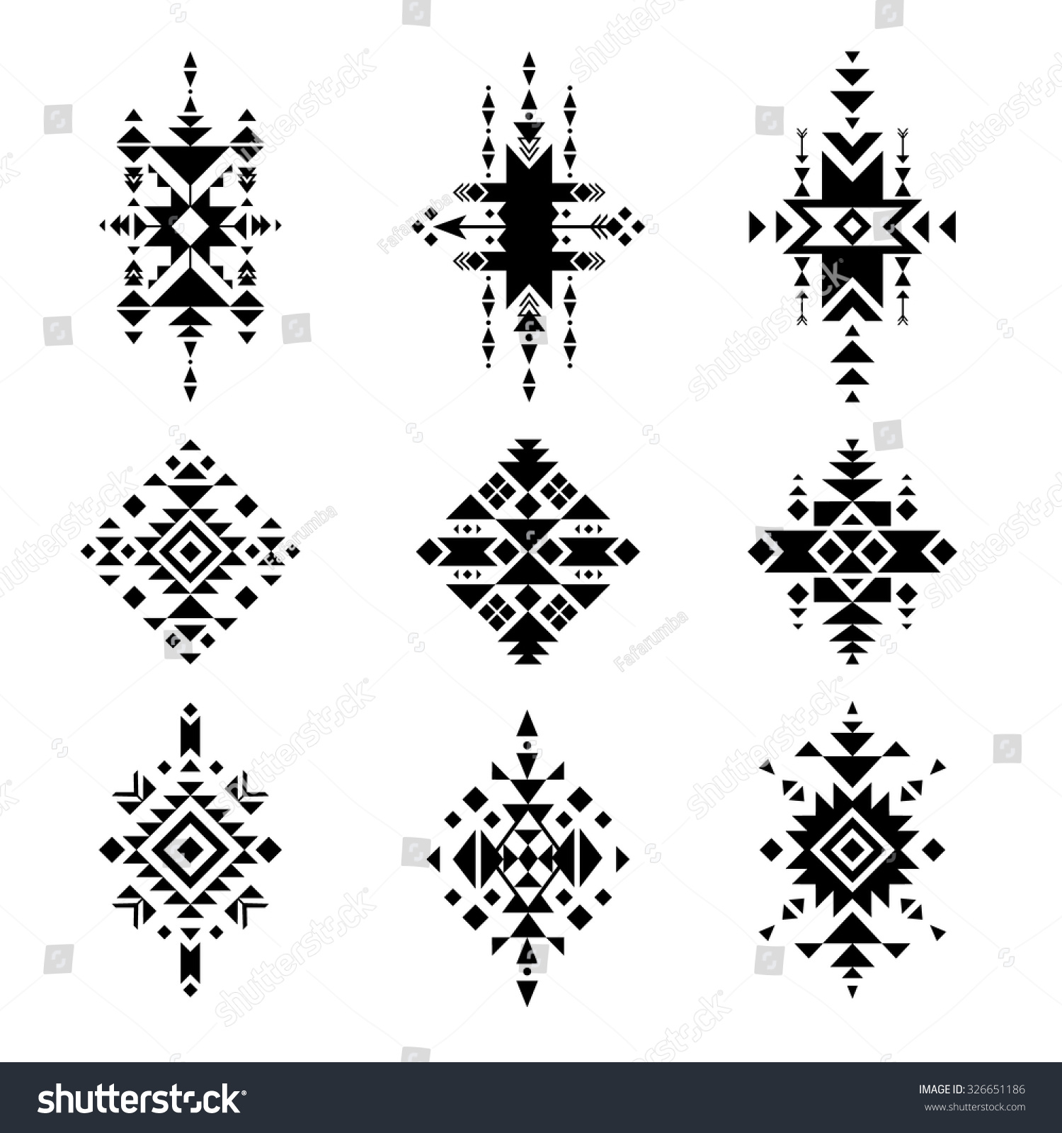 Native american ornaments - Vector Tribal Elements Native American Ornament