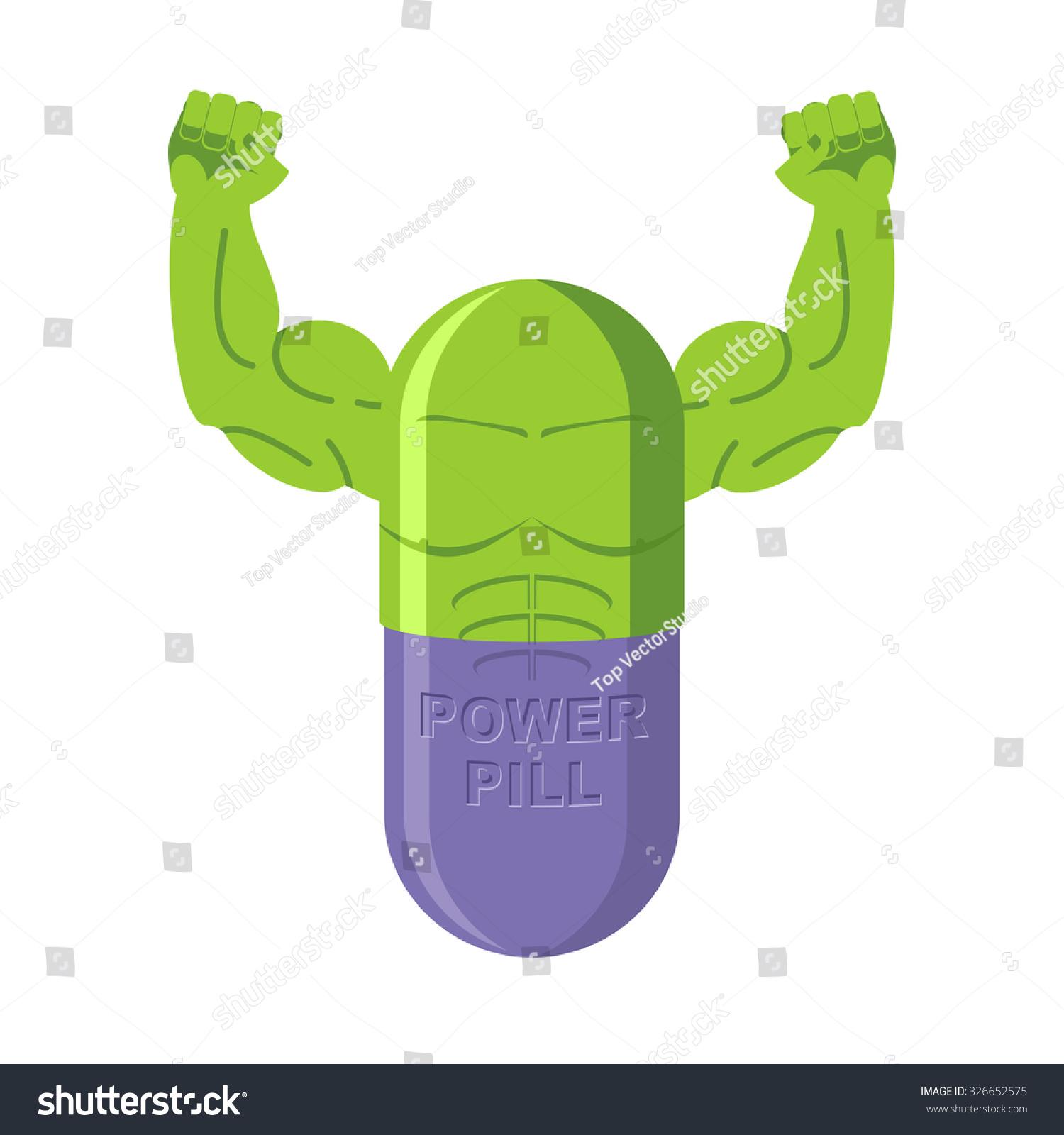 Power Pills Tablets Bodybuilding Medication Big Stock