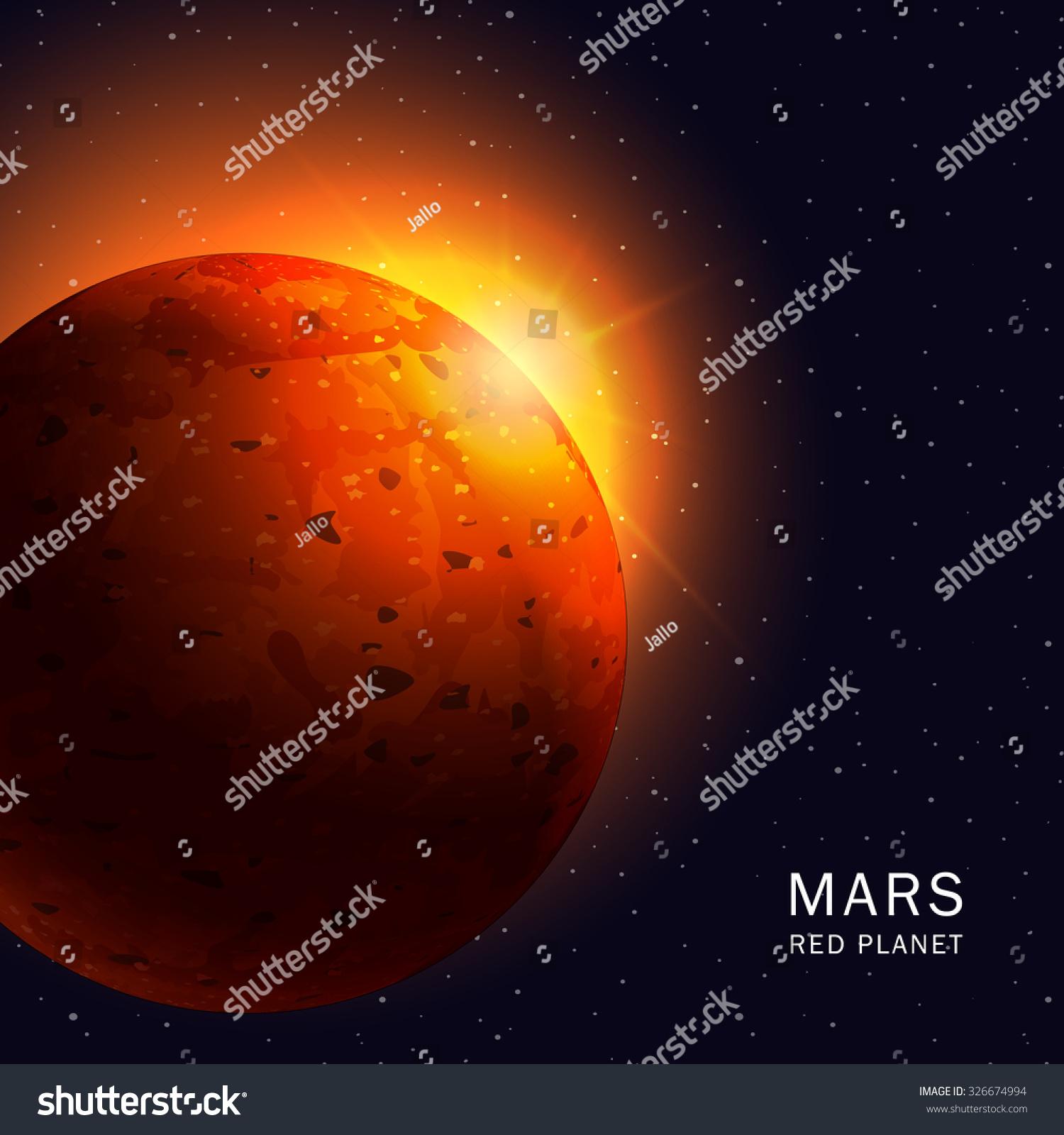 mars planet vector - photo #15