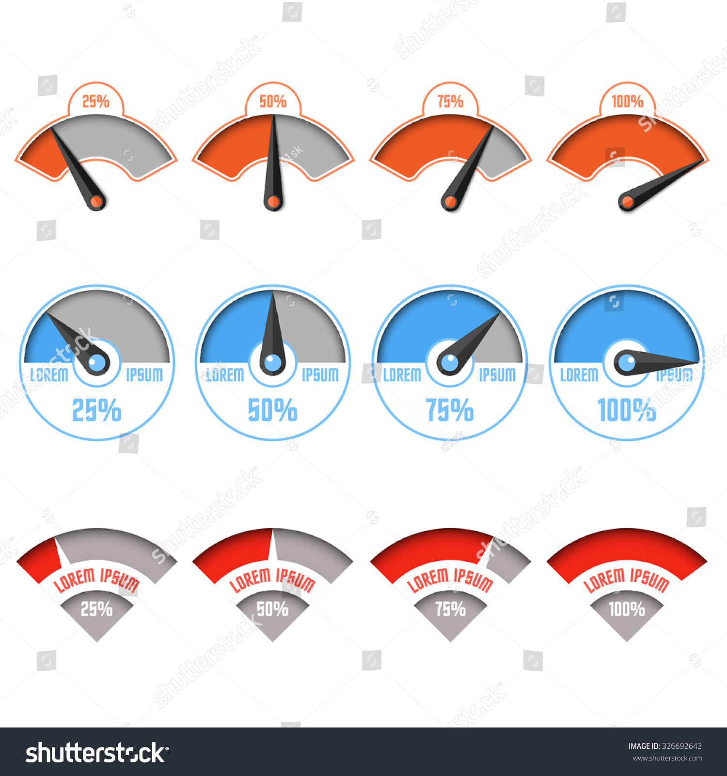 100 [ powerpoint dashboard gauges incineration waste disposal diagram, Powerpoint templates
