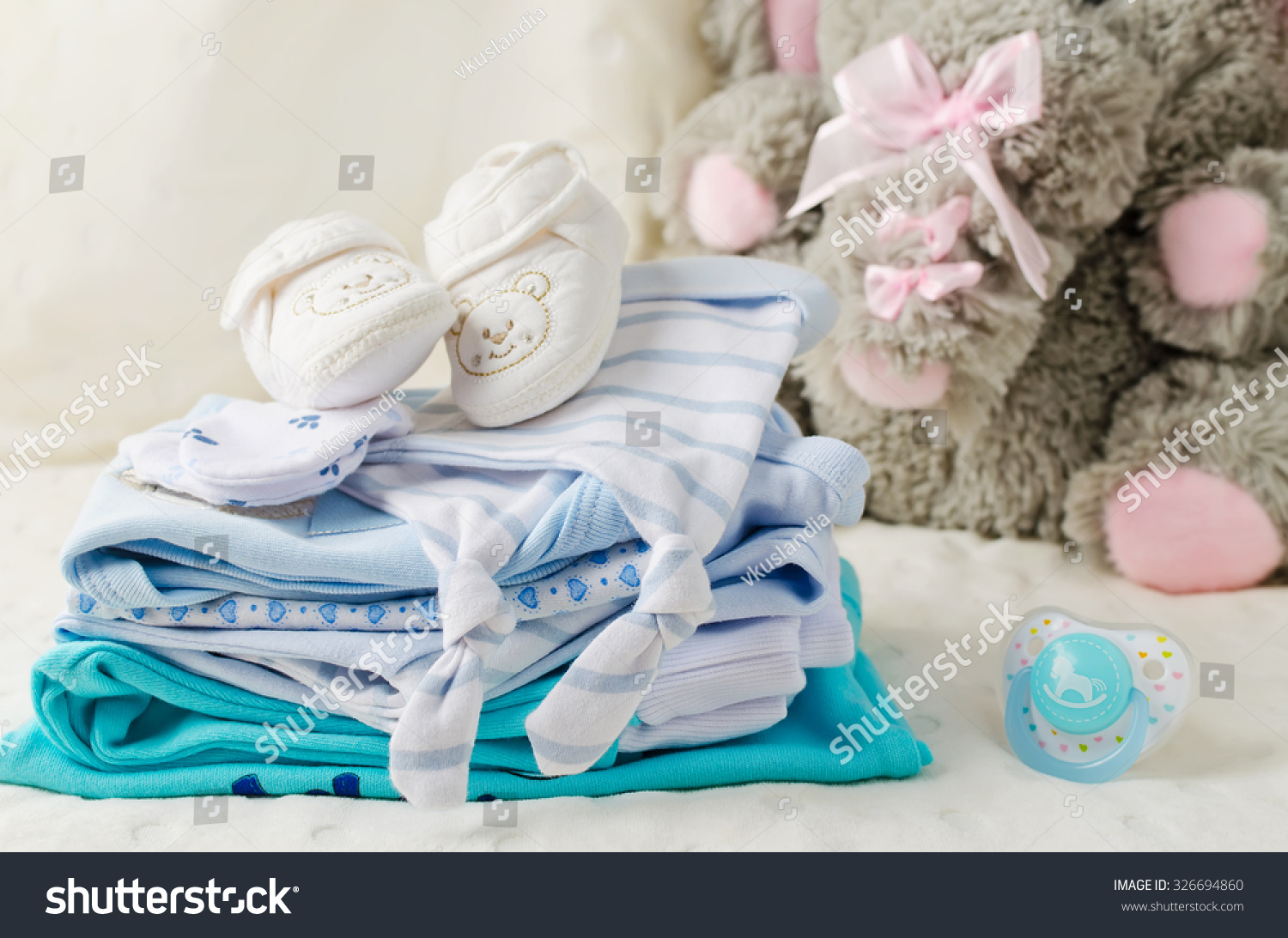 e01301ad0 Baby Clothes Newborn Pastel Colors Stock Photo (Edit Now) 326694860 ...
