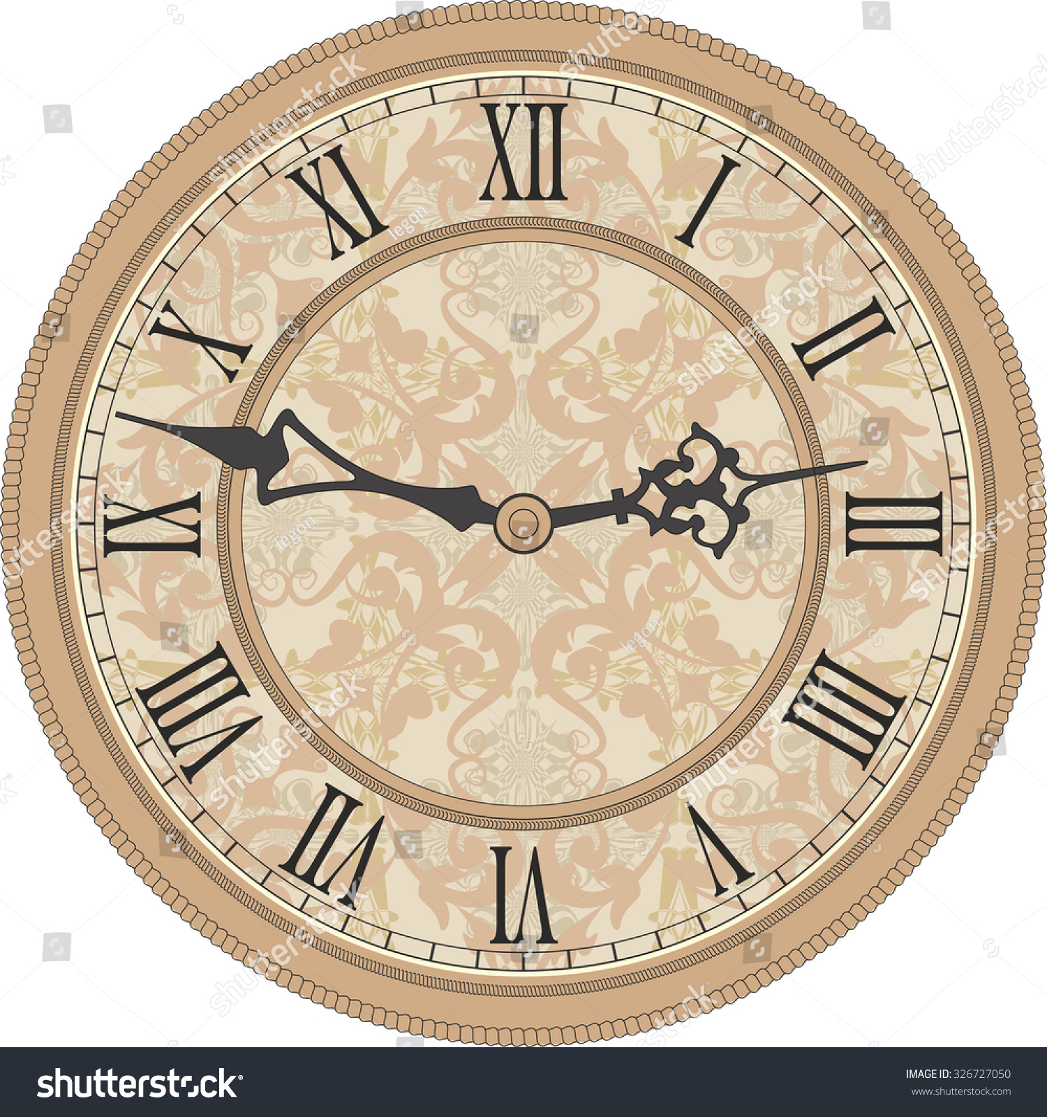 Antique wall clock vector image round stock vector 326727050 antique wall clock vector image of a round old clock with roman numerals amipublicfo Choice Image