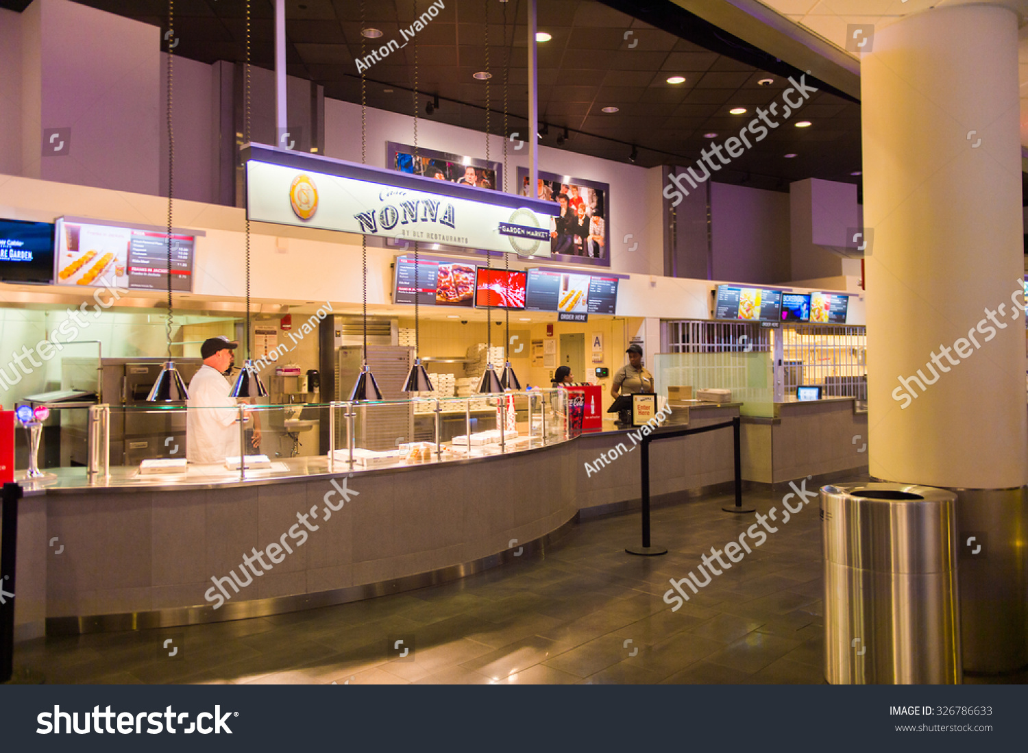 NEW YORK, USA - OCT 8, 2015: Nonna at the Food court at the Madison ...