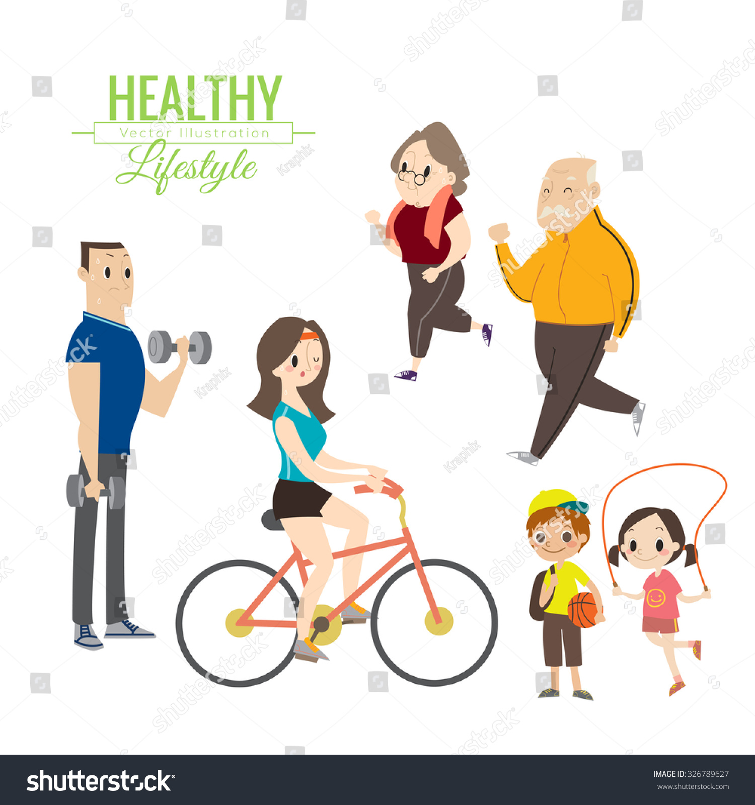 related keywords amp suggestions for healthy lifestyle cartoon