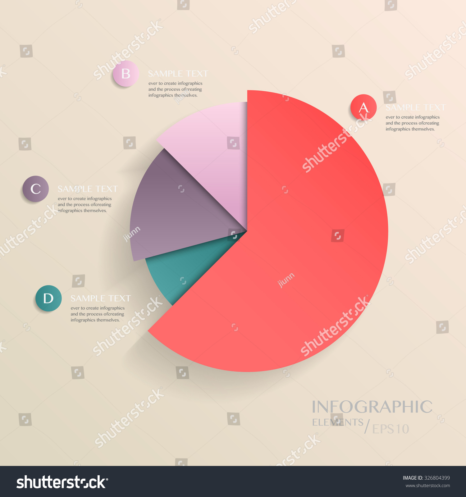 Modern vector abstract pie chart infographic stock vector 326804399 modern vector abstract pie chart infographic elementsn be used for workflow layout diagram nvjuhfo Choice Image