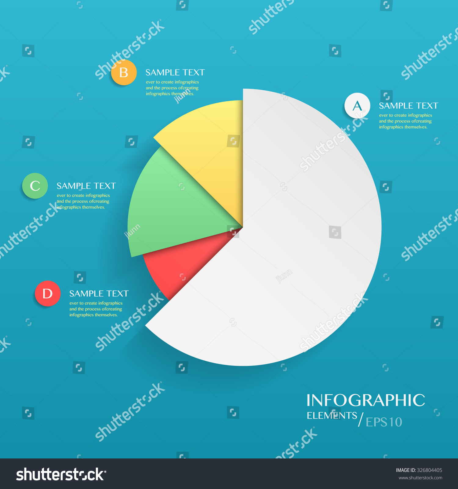 Modern Vector Abstract Pie Chart Infographic Stock Vector (Royalty ...
