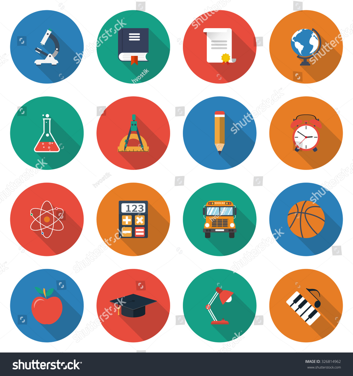 Education icons collection elements symbols learning stock vector education icons collection of elements and symbols of learning education knowledge colorful biocorpaavc Gallery
