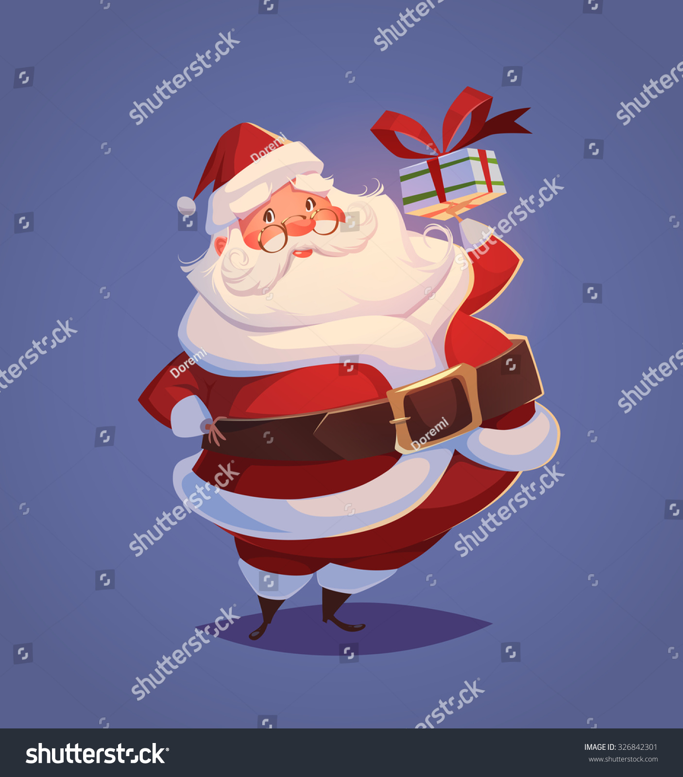 funny santa christmas greeting card background stock vector