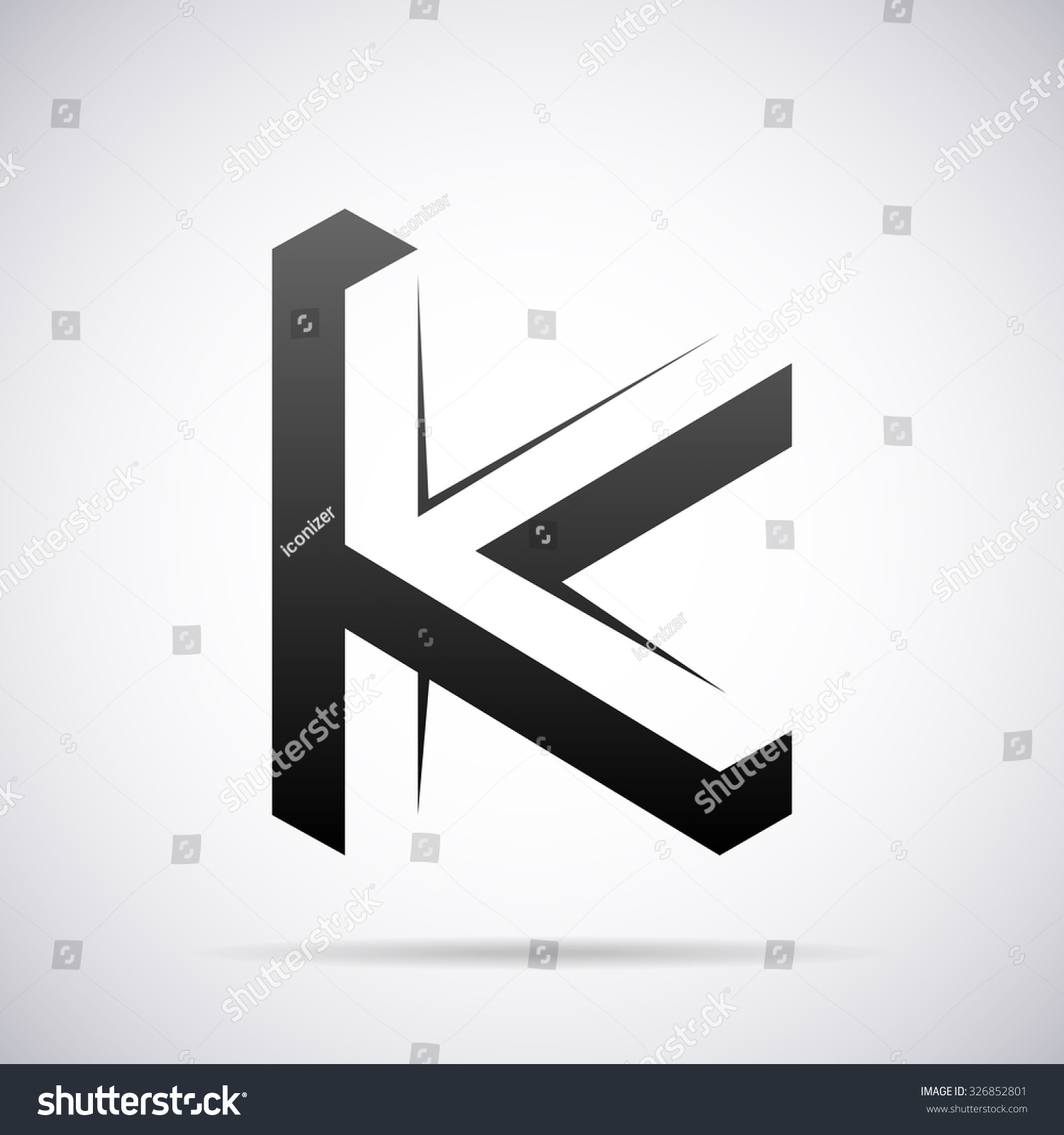 Logo letter k design template stock vector 326852801 shutterstock spiritdancerdesigns Images
