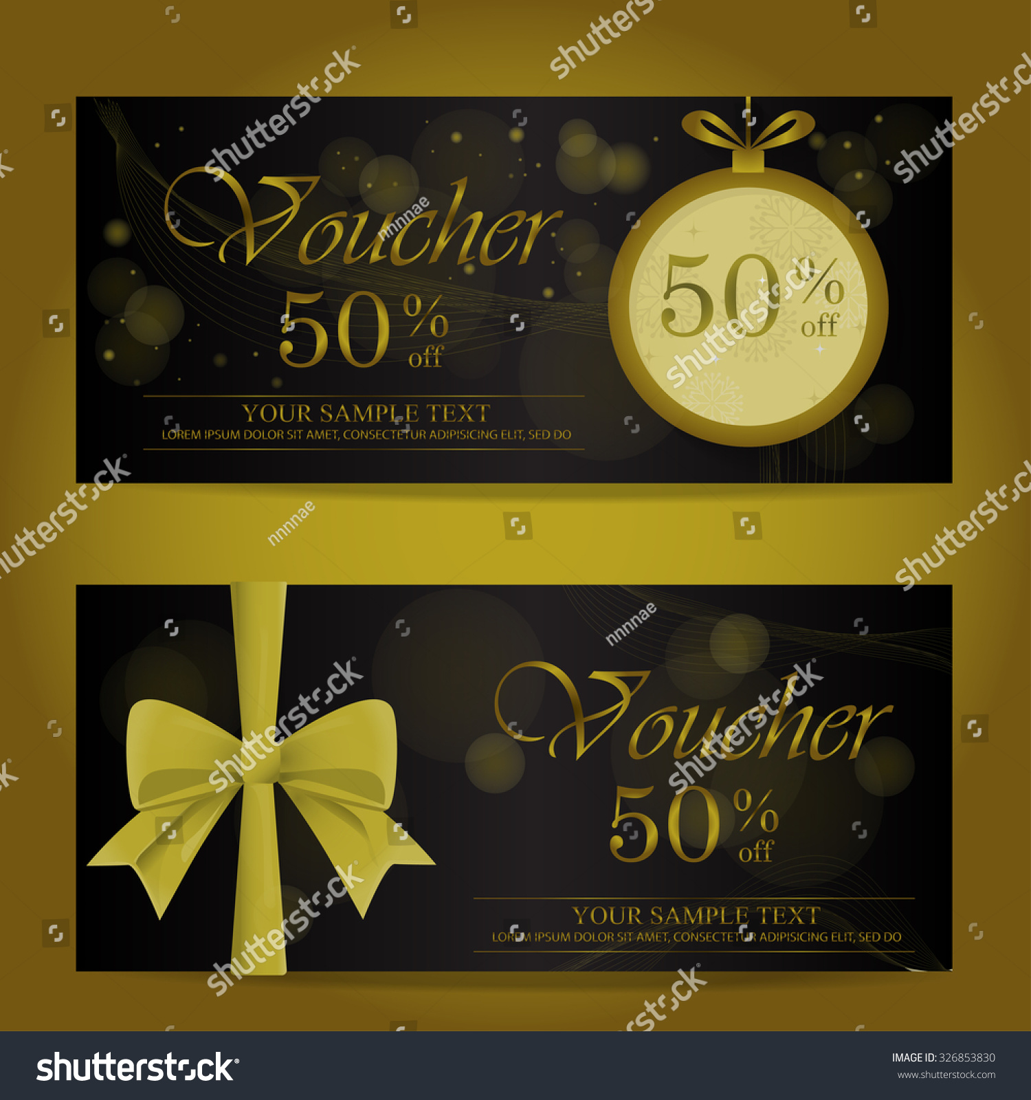 gold black christmas new year gift stock vector 326853830 gold and black christmas and new year gift voucher certificate coupon template can be use