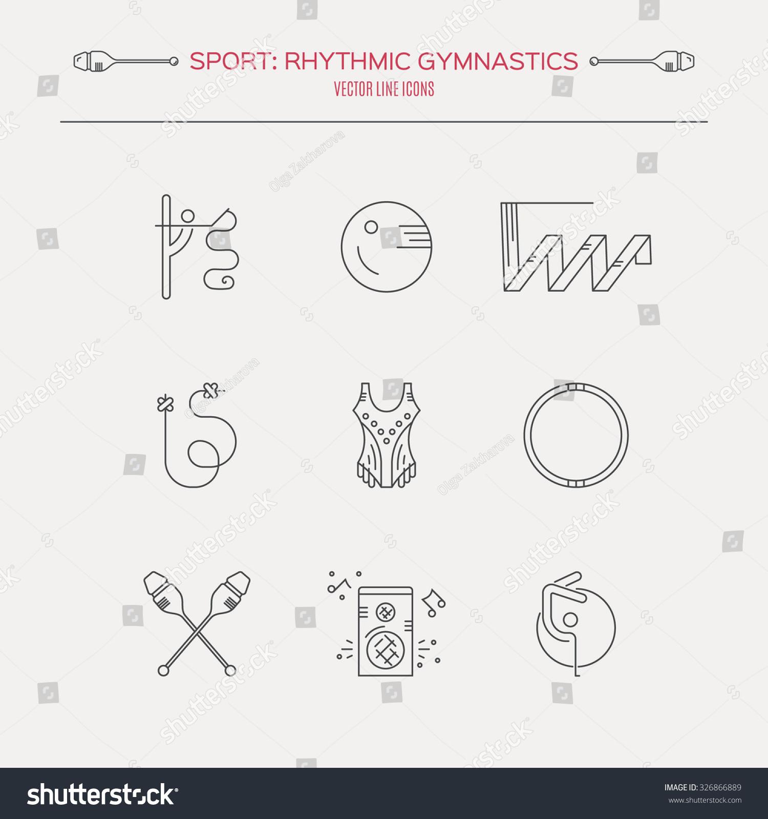 Collection Line Modern Vector Symbols Rhythmic Stock Vector Royalty