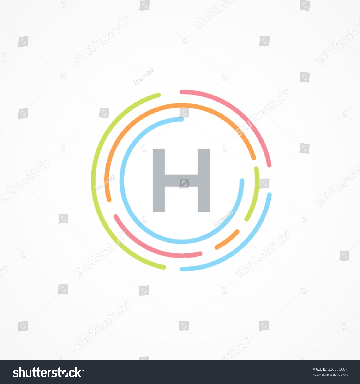 Letter H Logo Design Templatebusinesscolorful Creative