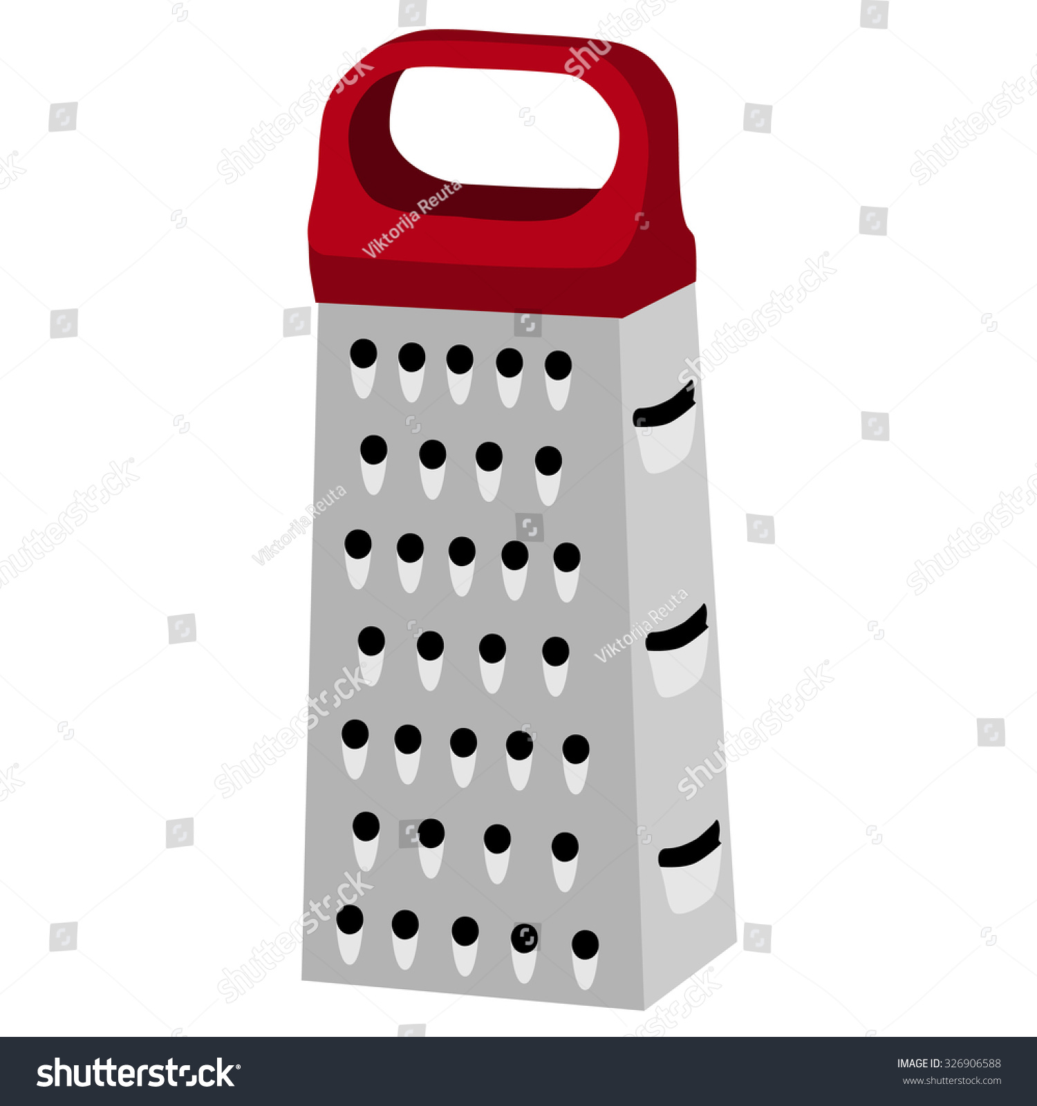 Royalty Free Stock Illustration Of Cheese Grater Red Handle Grater