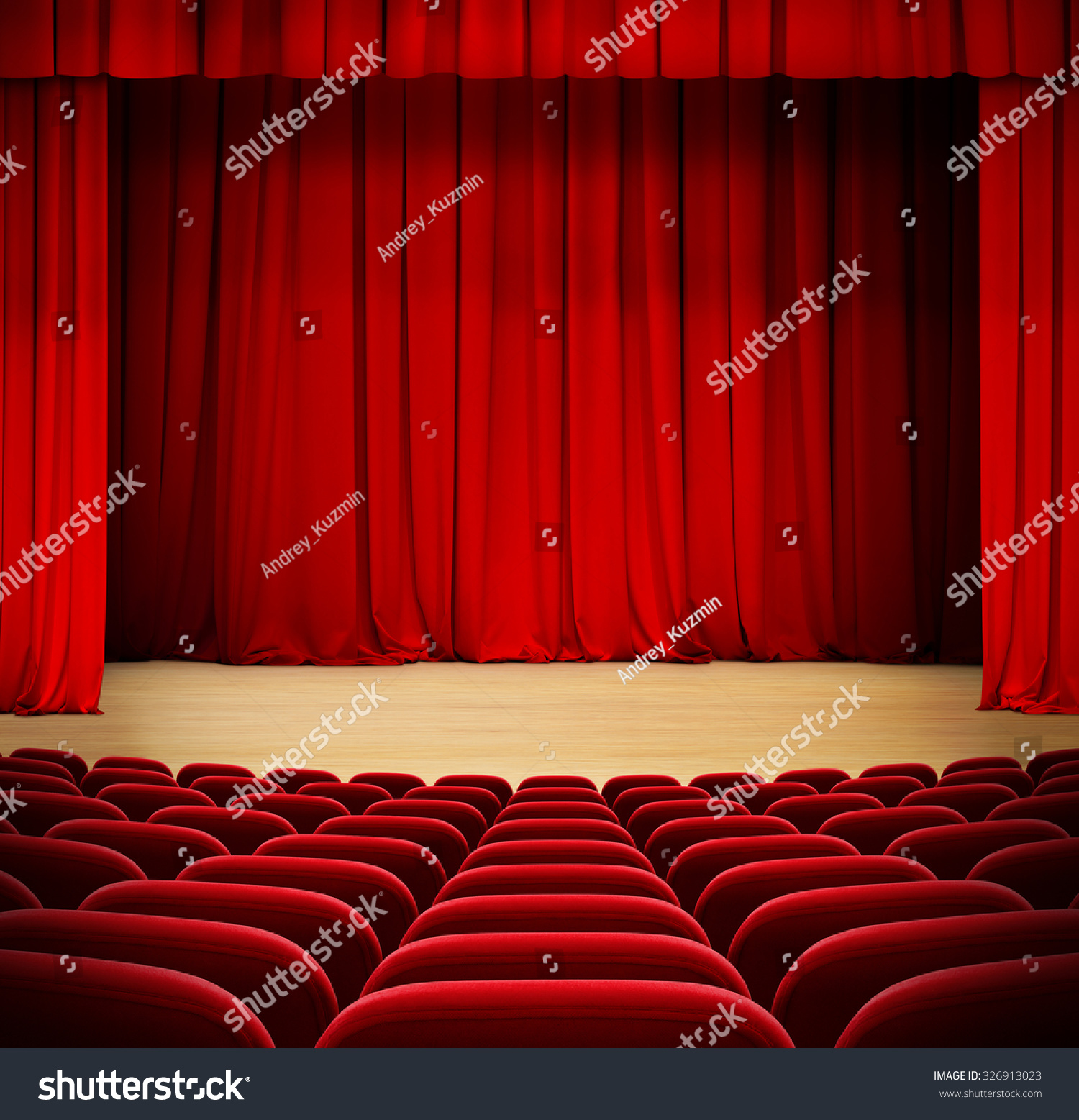 Closed theater curtains - Save To A Lightbox